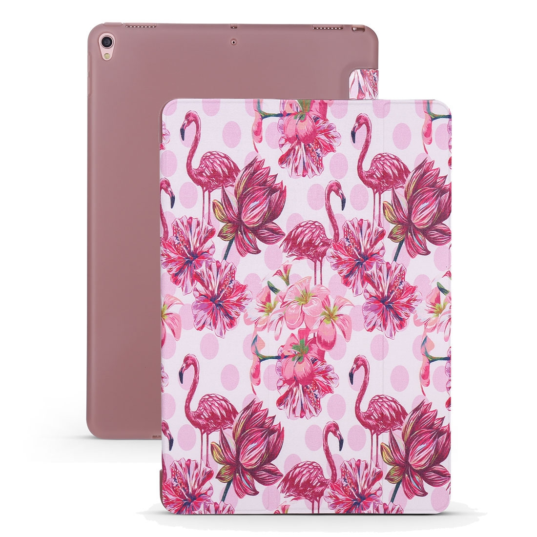 Flamingo Leather iPad Air 2 Case (2019)/ Pro 10.5 inch, with Tri-Fold Honeycomb Durable Cover