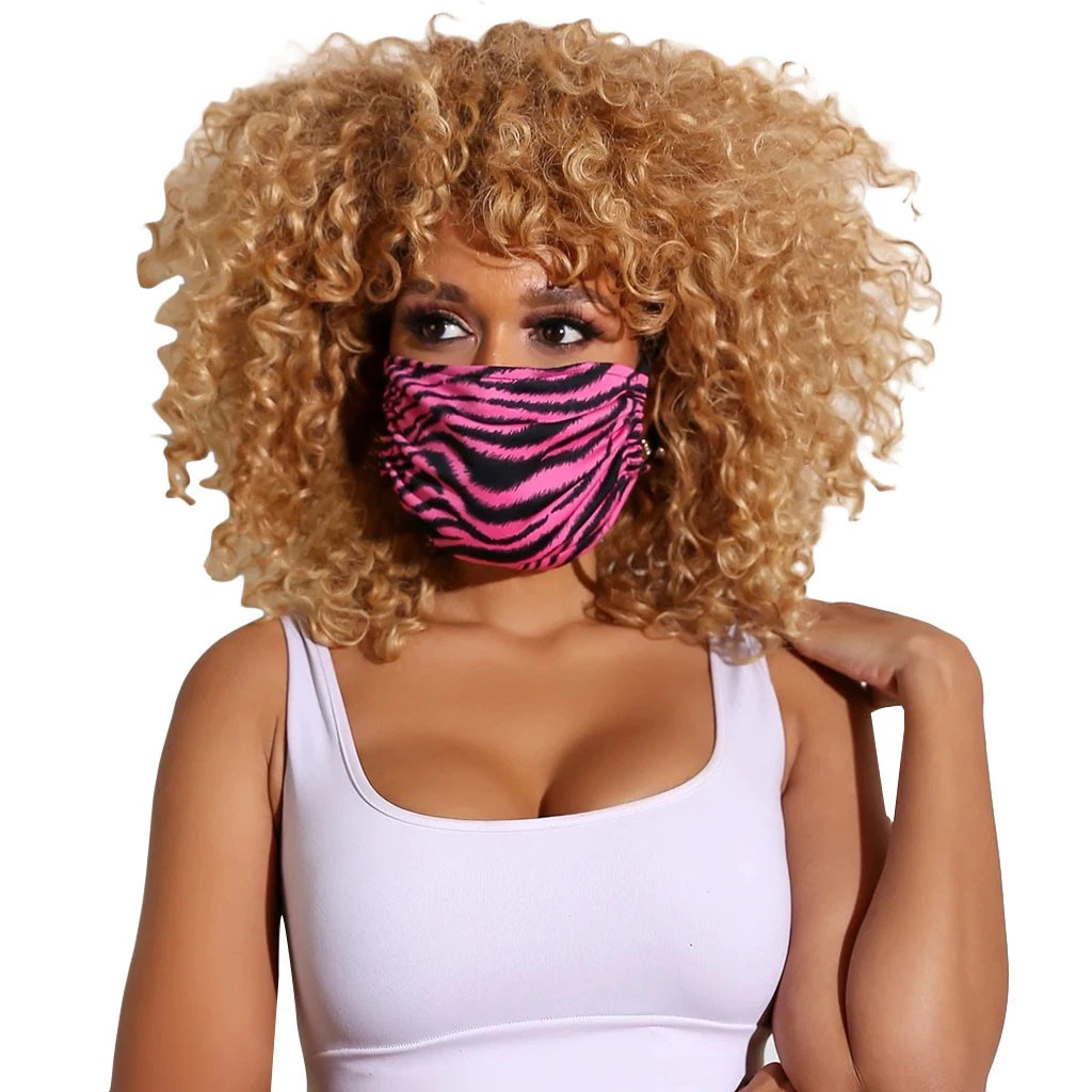 Designer Face Mask, Stylish Appearance, Washable & Great Breathability - Pink Zebra
