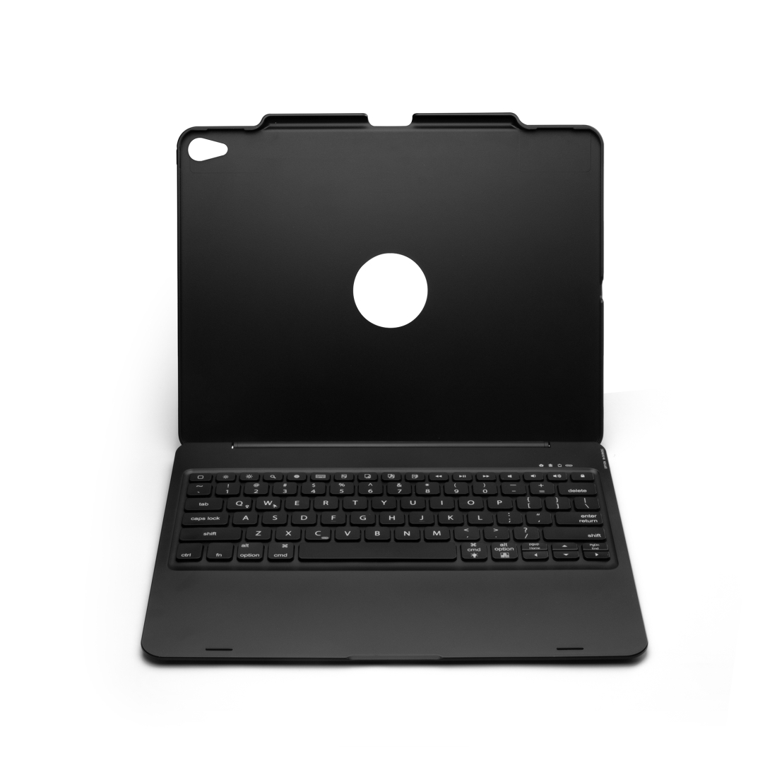 iPad Pro 12.9 Case With Keyboard (2018) With Leather Case & Backlit Keyboard (Black)