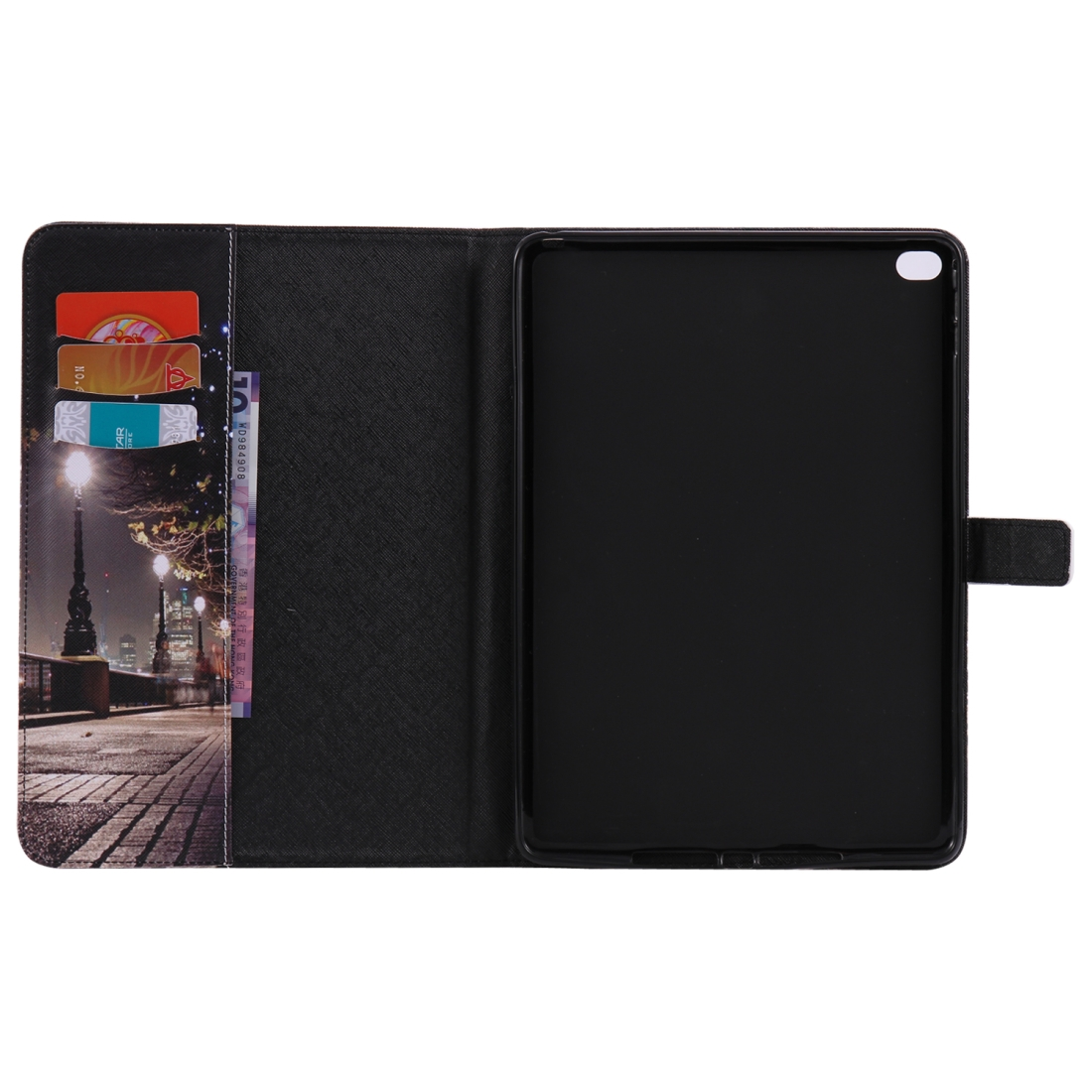 iPad 5th Generation Case Fits iPad 5 & 6, Leather Cover, With Slim Profile & Auto Sleep (Cityscape)