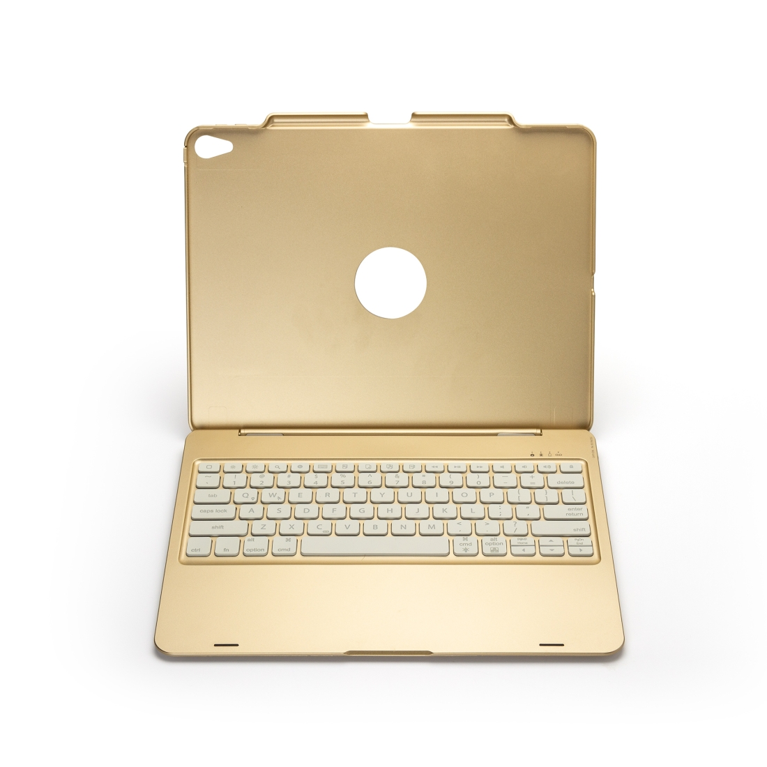 iPad Pro 12.9 Case With Keyboard (2018) With Leather Case & Backlit Keyboard (Gold)