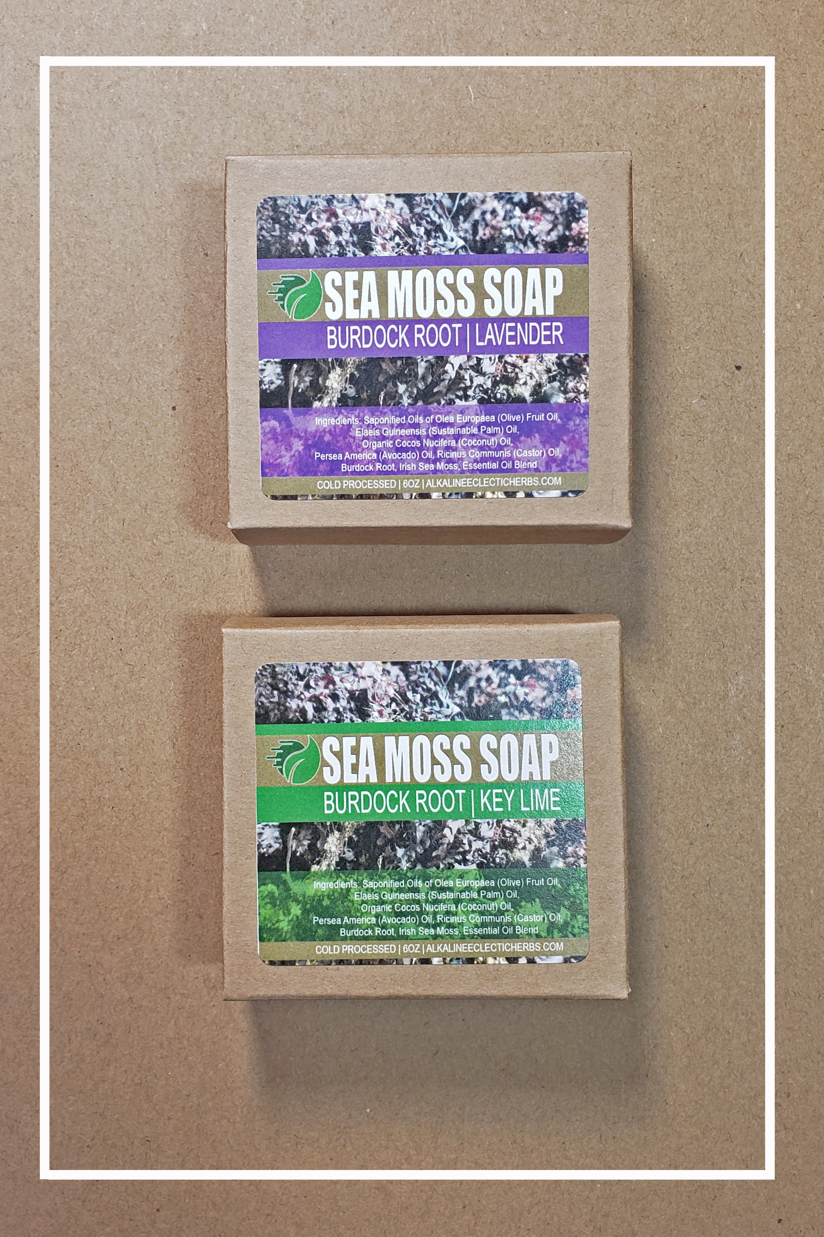 SEA MOSS BURDOCK ROOT SOAP