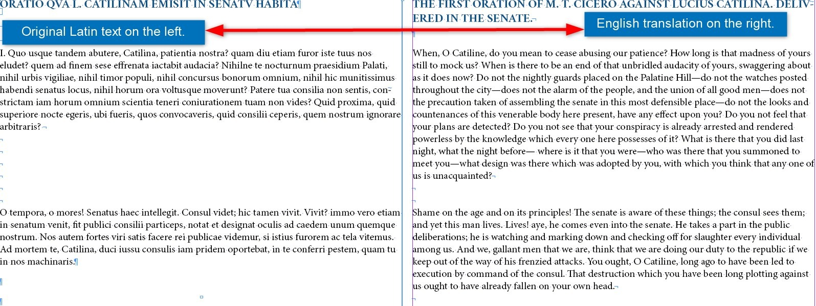 Orations against Catiline I-IV / Dual Language
