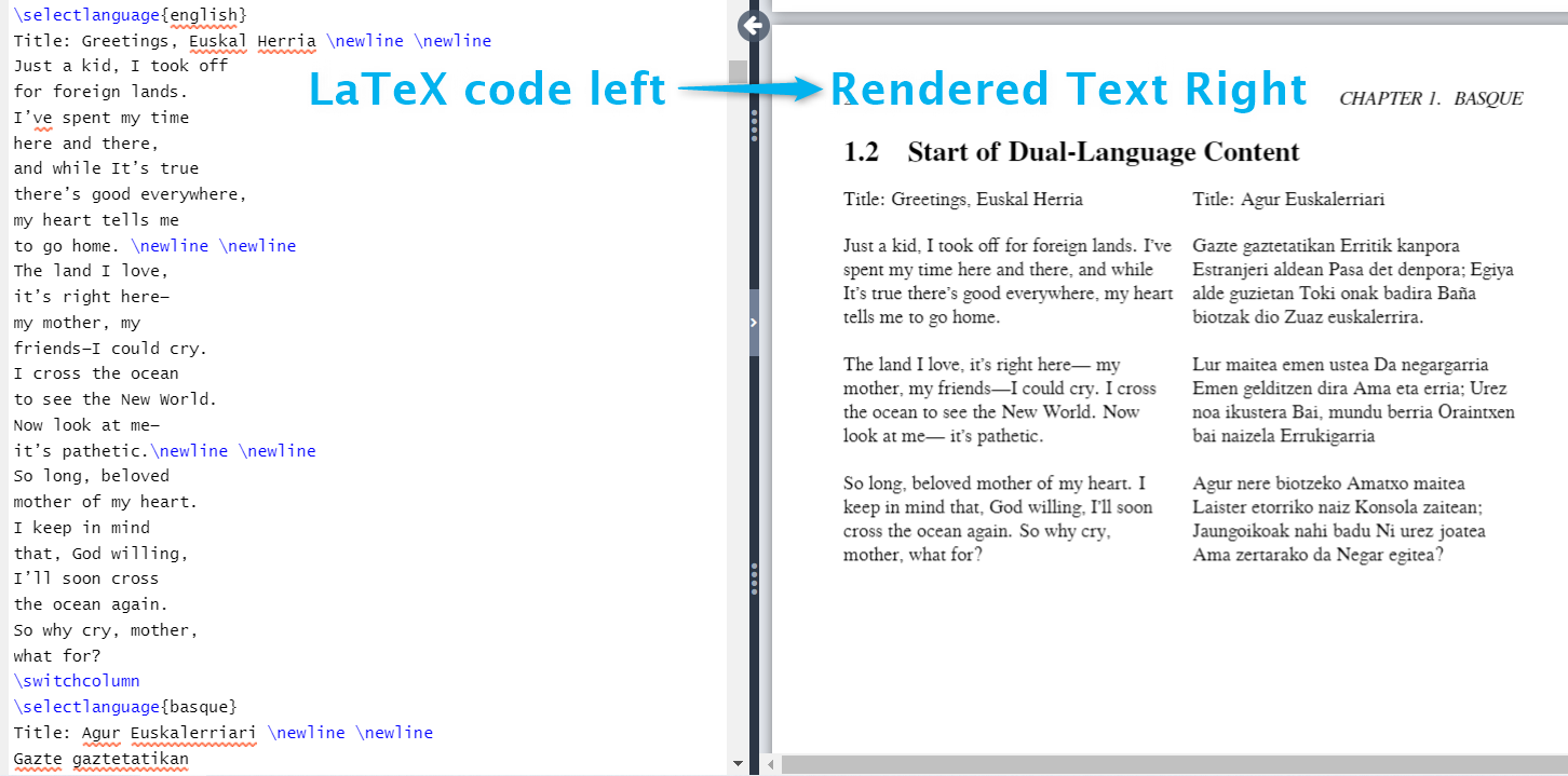 LaTeX Typesetting: A Dual-Language Document Demonstration