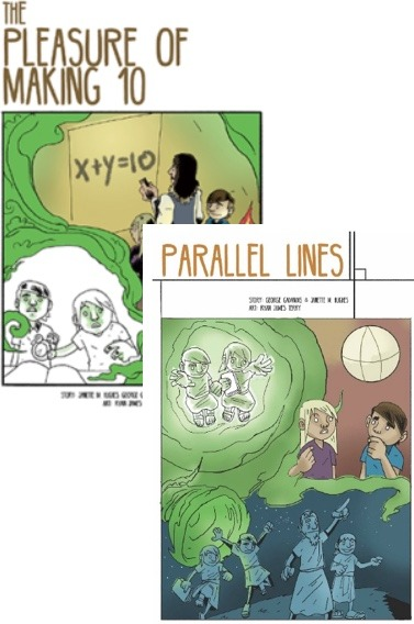 2 Math Time Travel graphic stories (teacher licence)