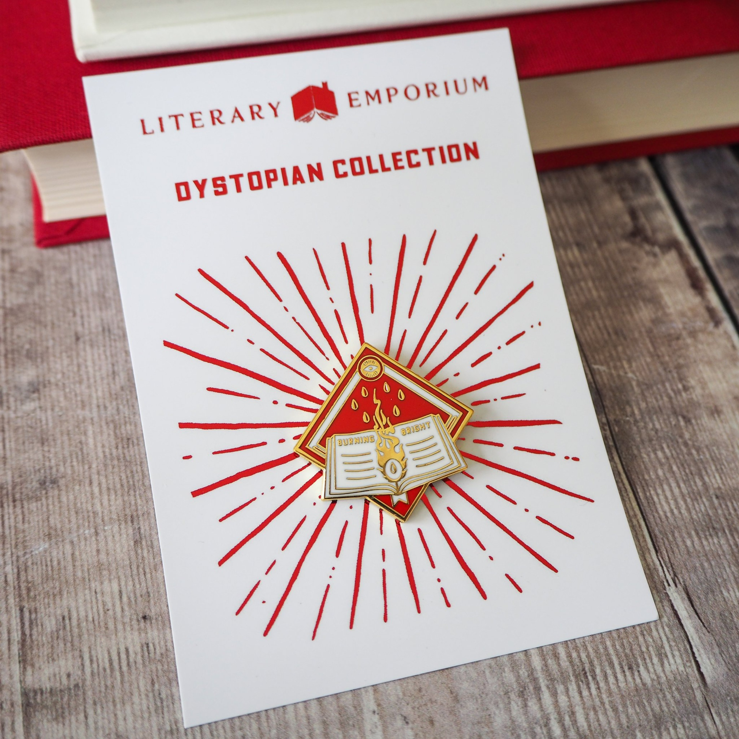 Enamel Pin - Dystopian Collection from Literary Emporium