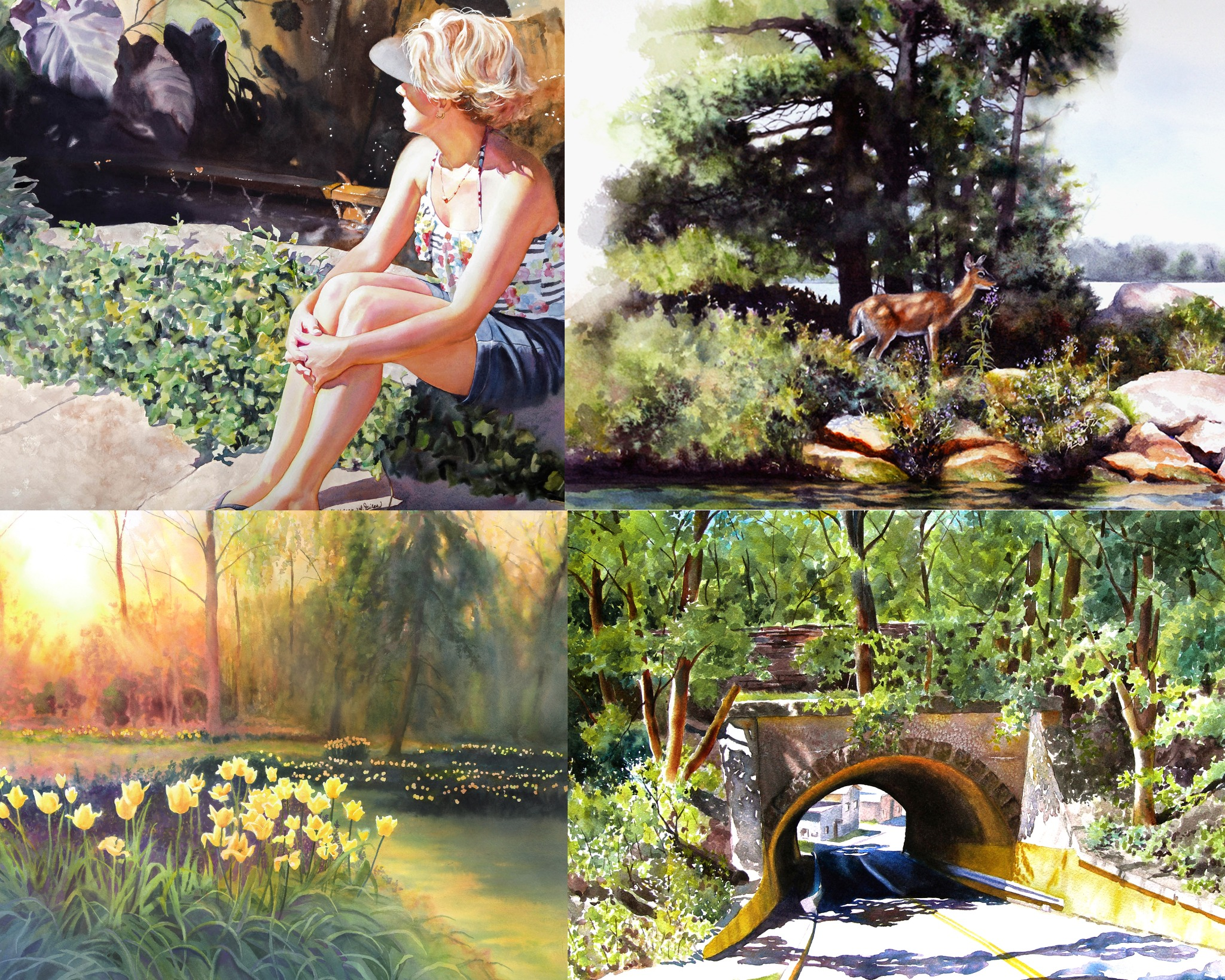 Live Zoom Demonstration~ Mixing Greens and Painting Tress and Foliage in Watercolor