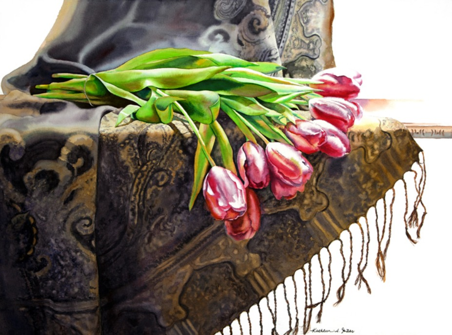 Tulips on Tapestry