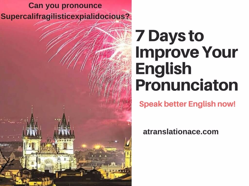 7 Days to Improve Your English Pronunciation