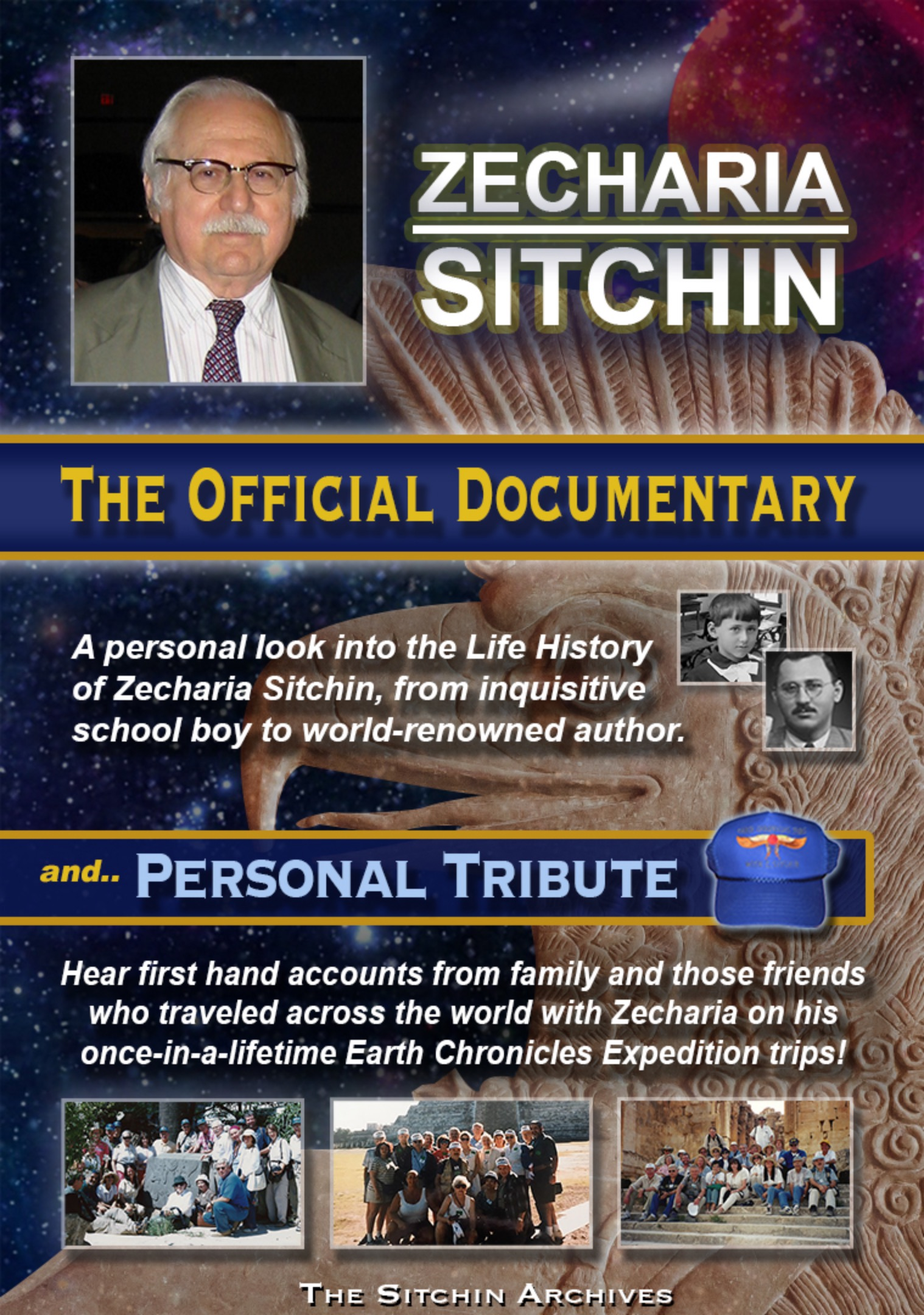 FREE to Watch now!    ZECHARIA SITCHIN, The Official Documentary & Personal Tribute