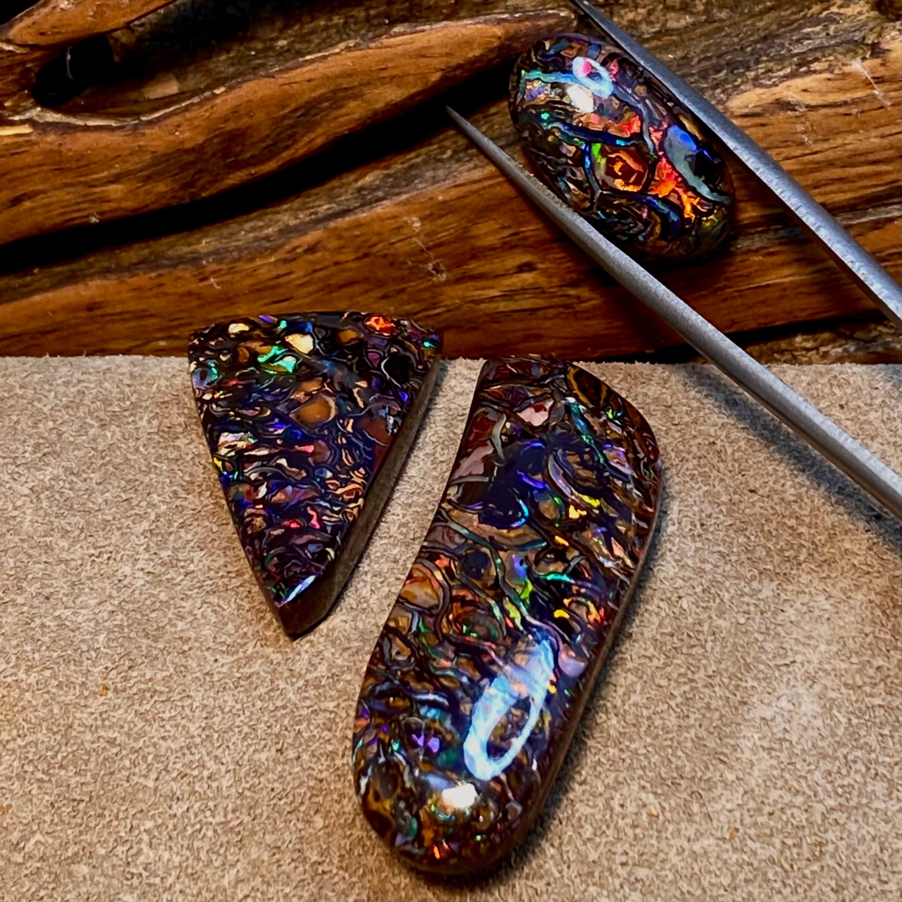 SOLD!!! 2 OF THESE 3 ARE NOT AVAILABLE Feature Opals From Discovery Channel