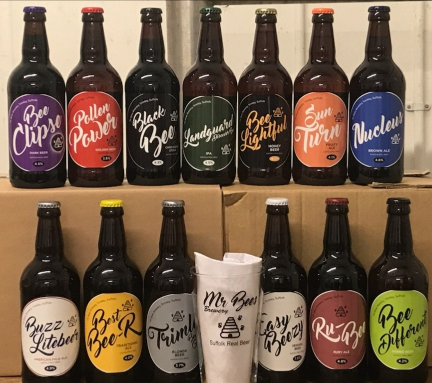 11 Bottles and Glass (Courier)