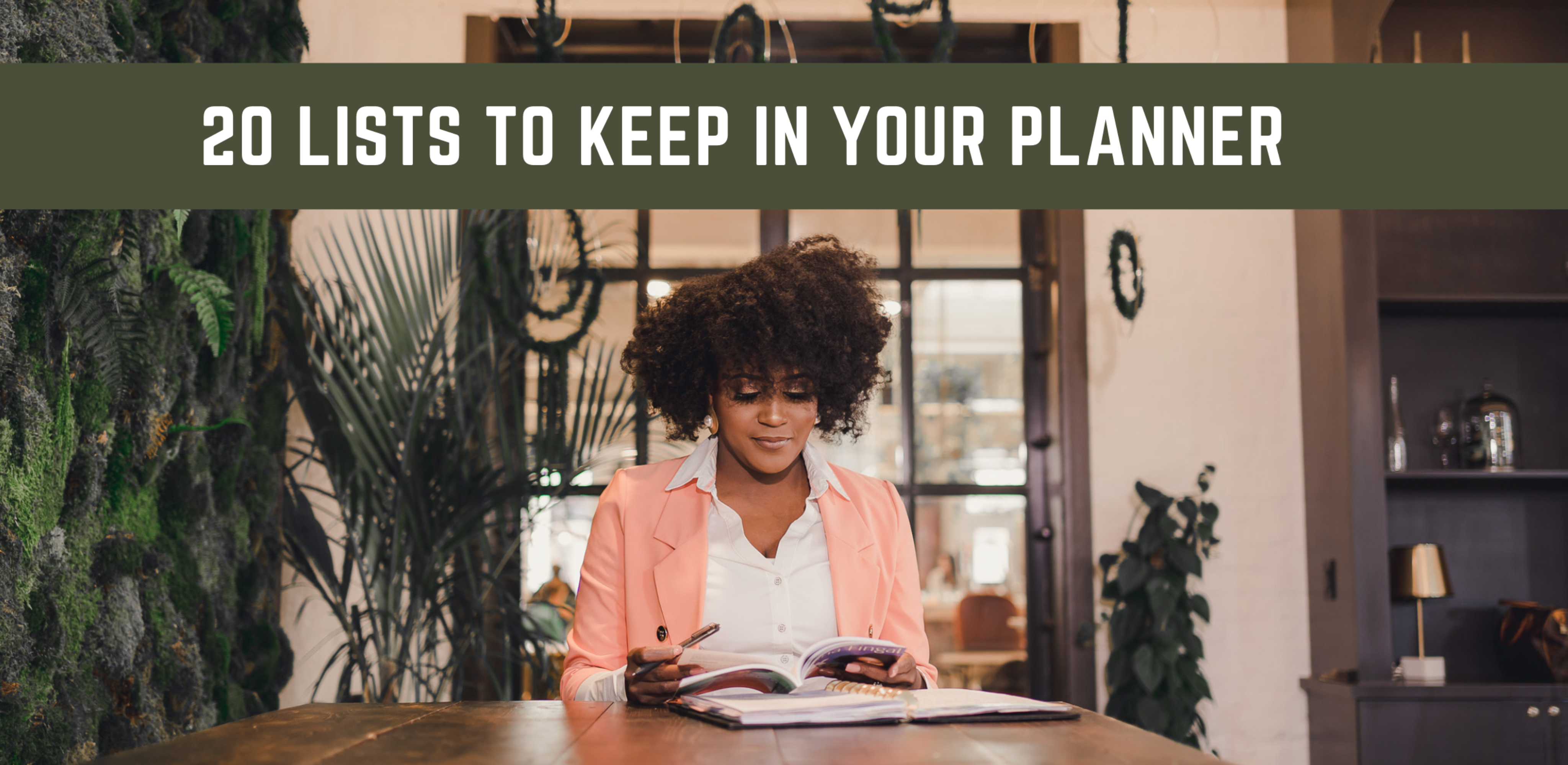 20 Lists That I Keep In My Planner