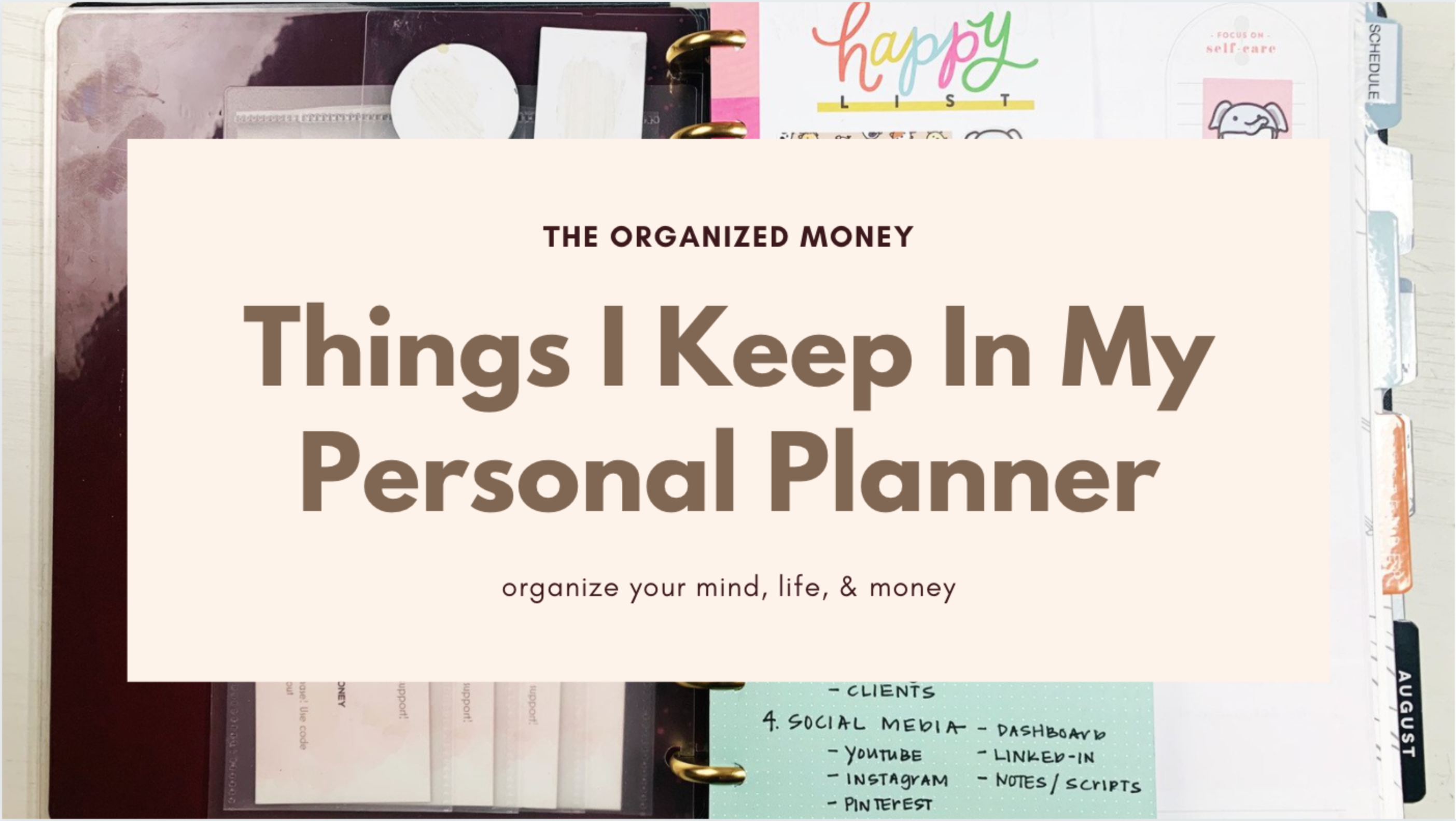 Ways to Use Your Personal Planner