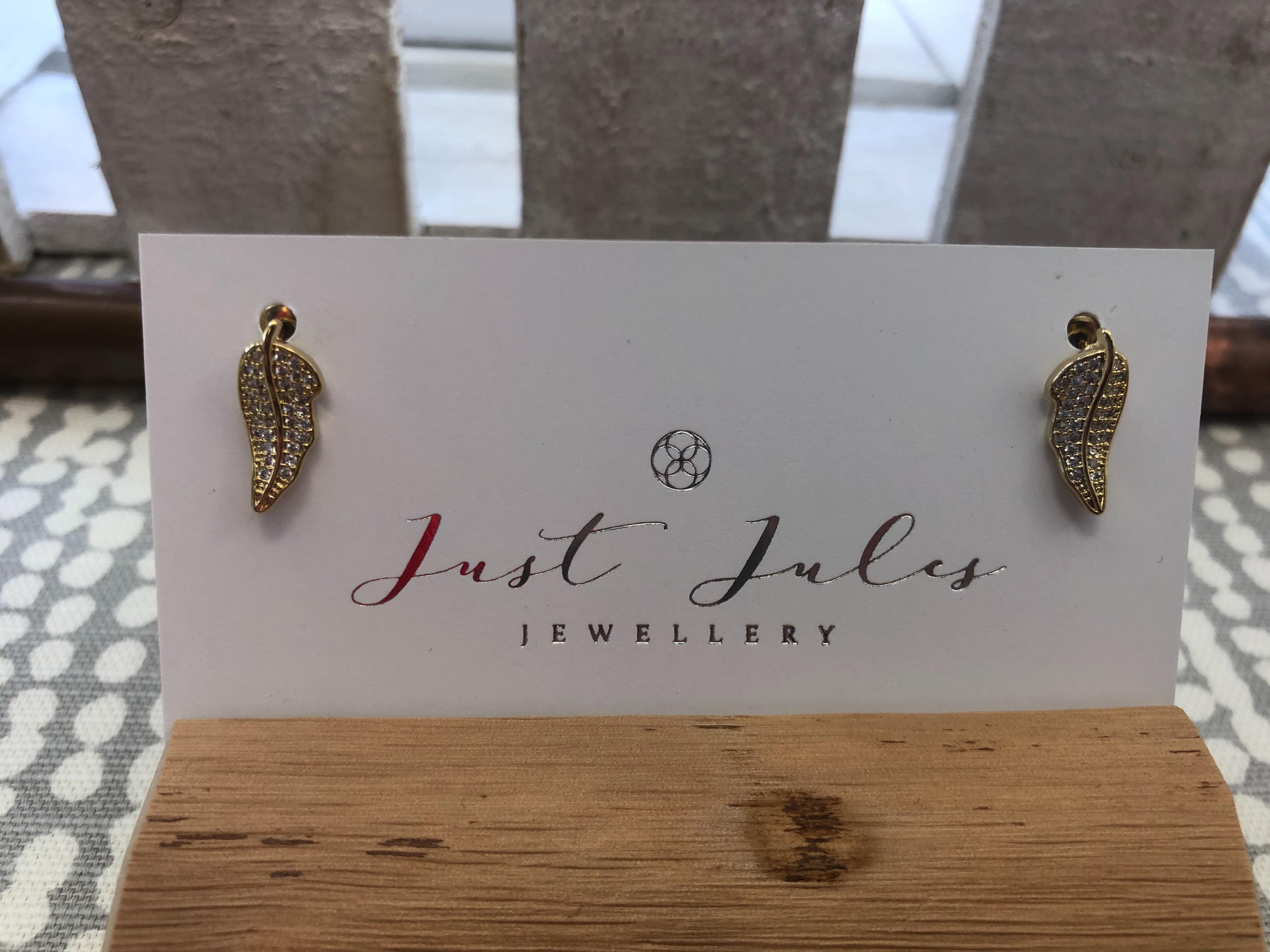 Just Jules Gold Plated Leaf Earrings
