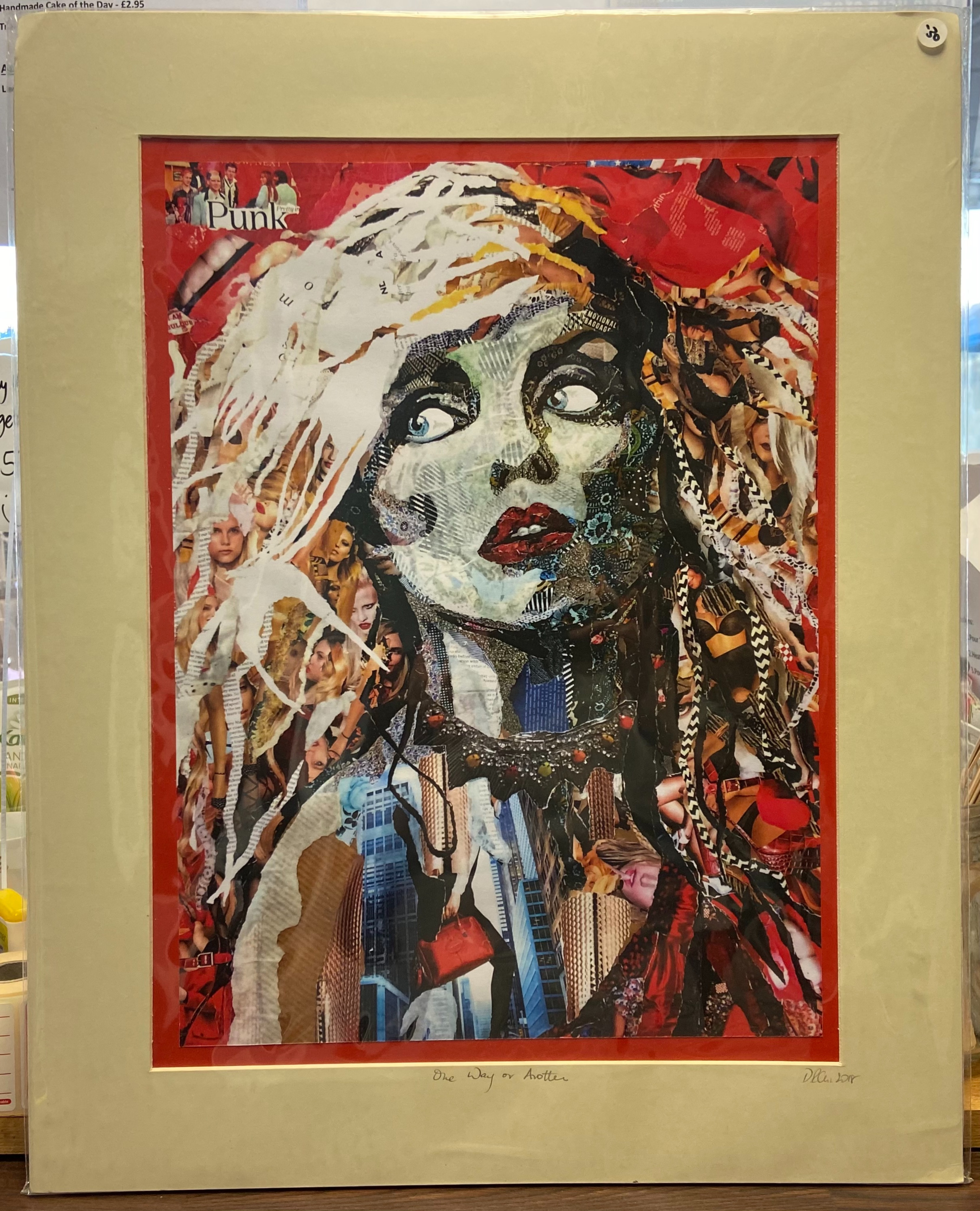 """Danielle Vaughan Mixed Media """"One Way or Another"""" Mounted Art Print 20x16"""
