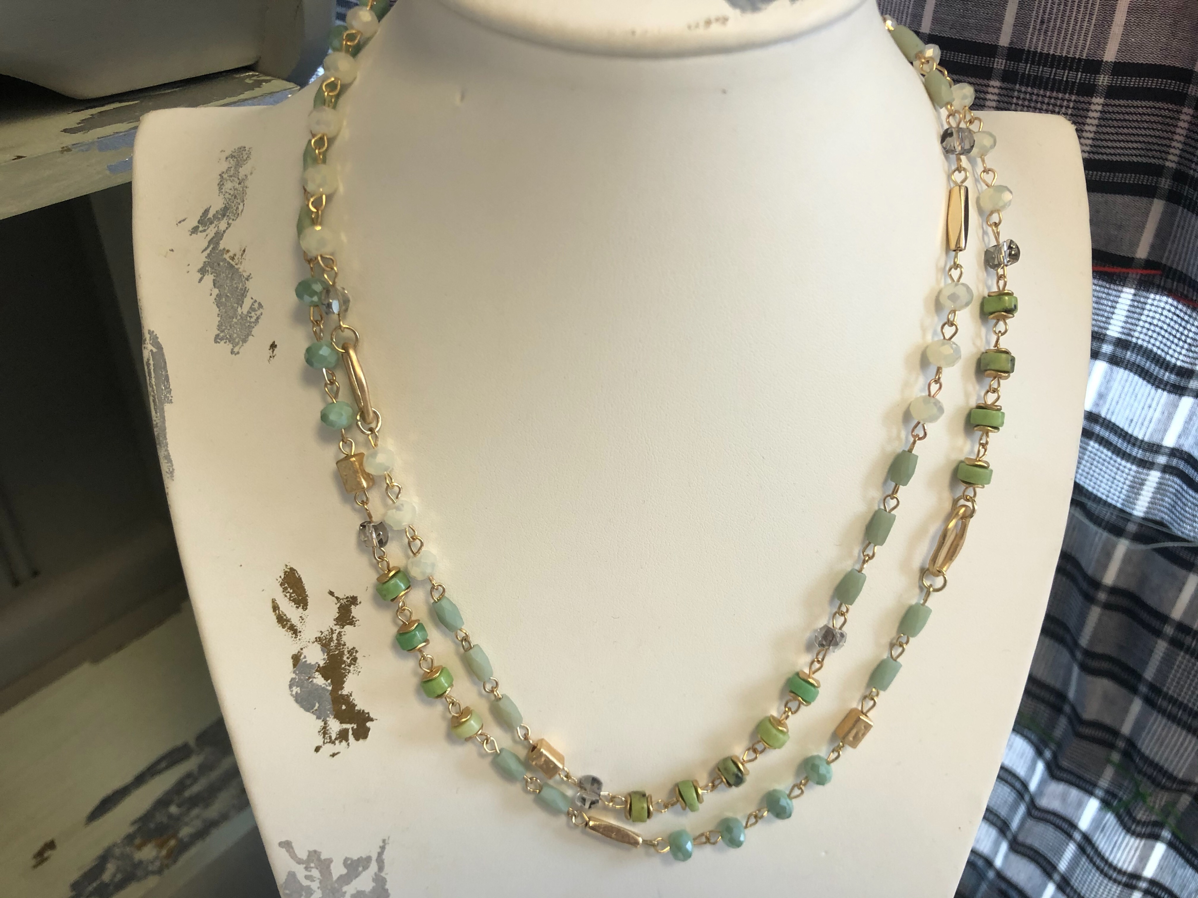 Just Jules Duck Egg Beaded Necklace