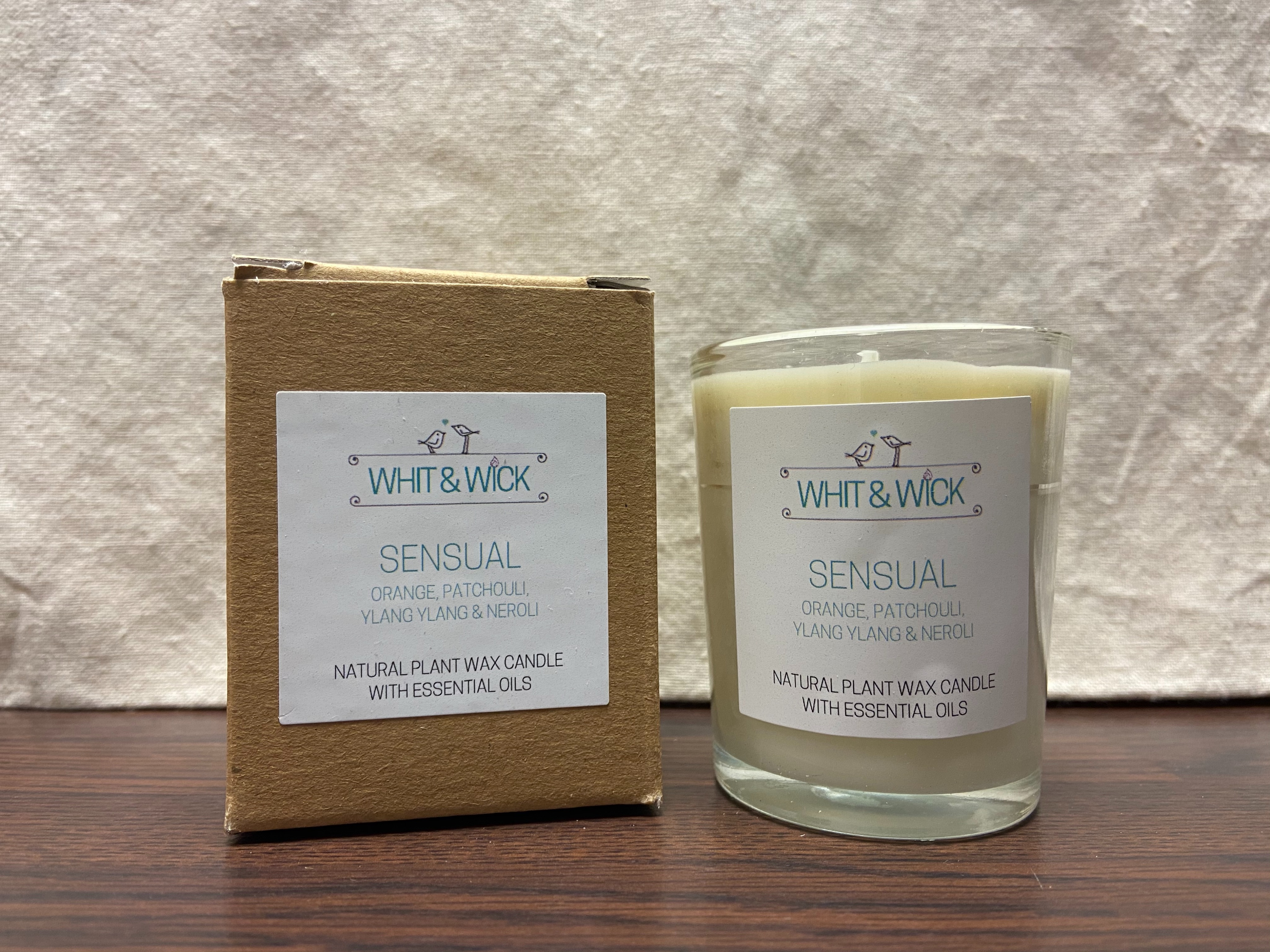 Whit & Wick Sensual Small Boxed Candle