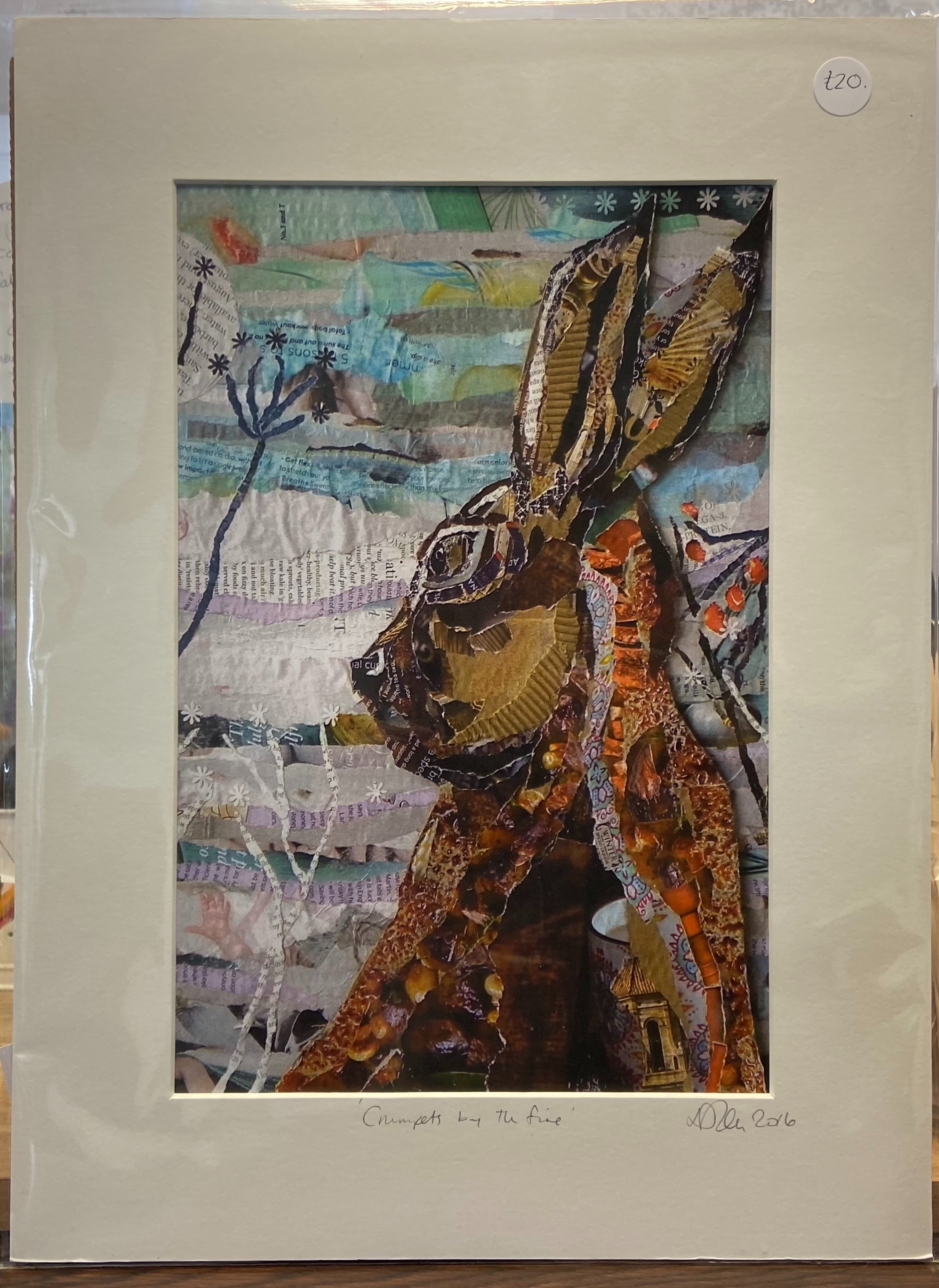 """Danielle Vaughan Mixed Media """"Crumpets by the Fire """" Mounted Art Print 16x12"""