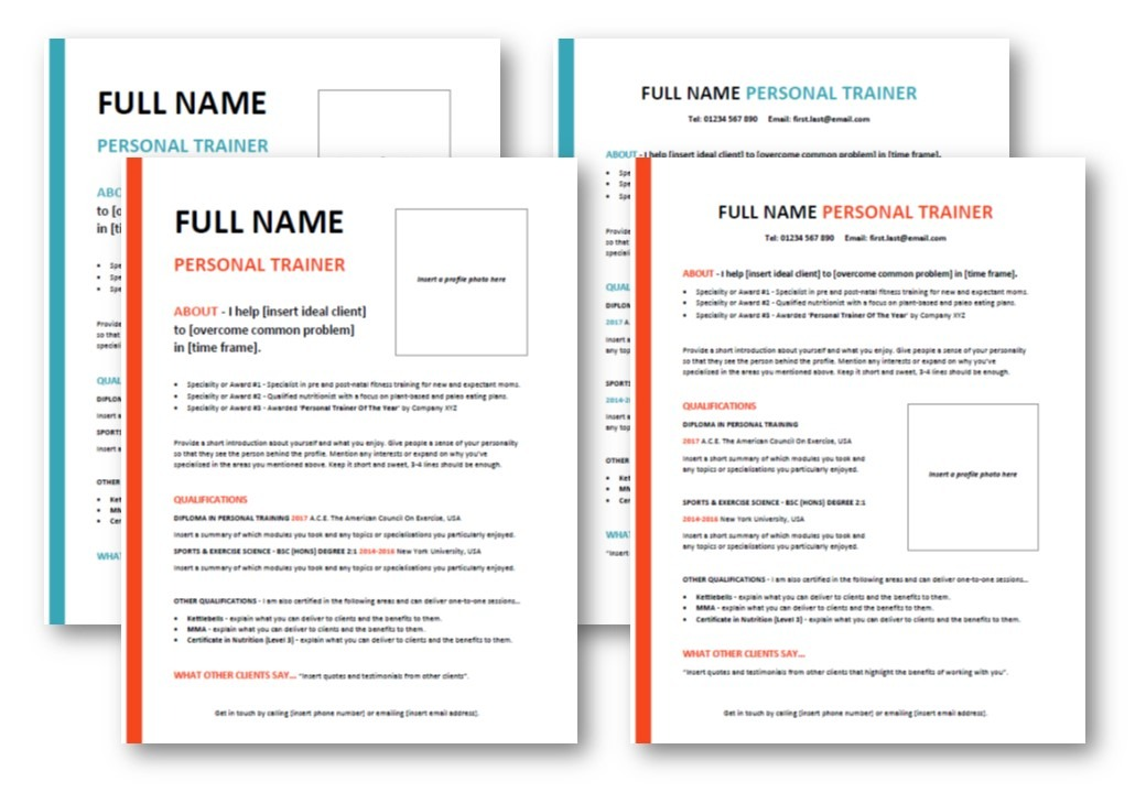 Personal Training Business Templates