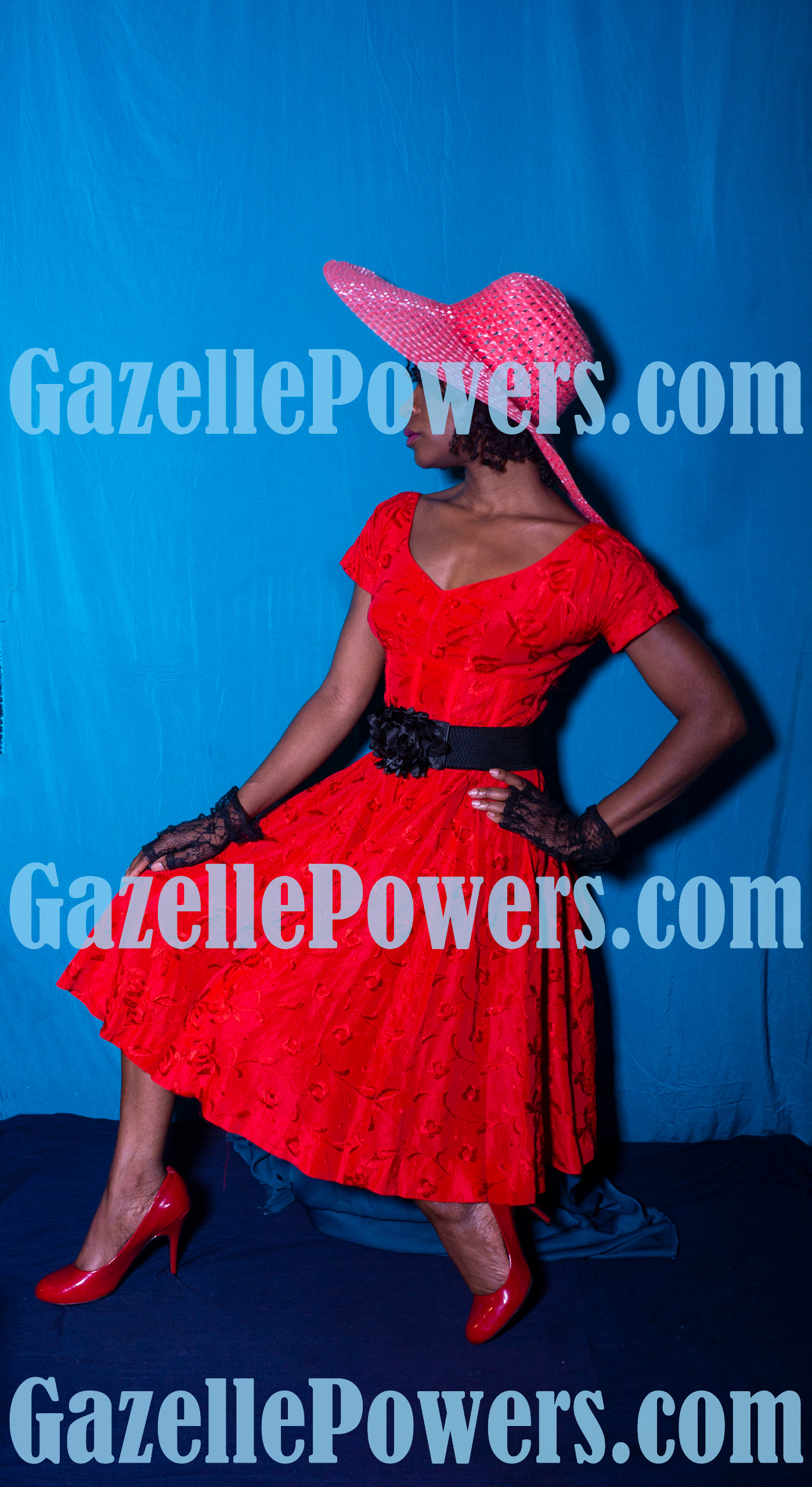 April 18th Session - Vintage Lady in Red #4