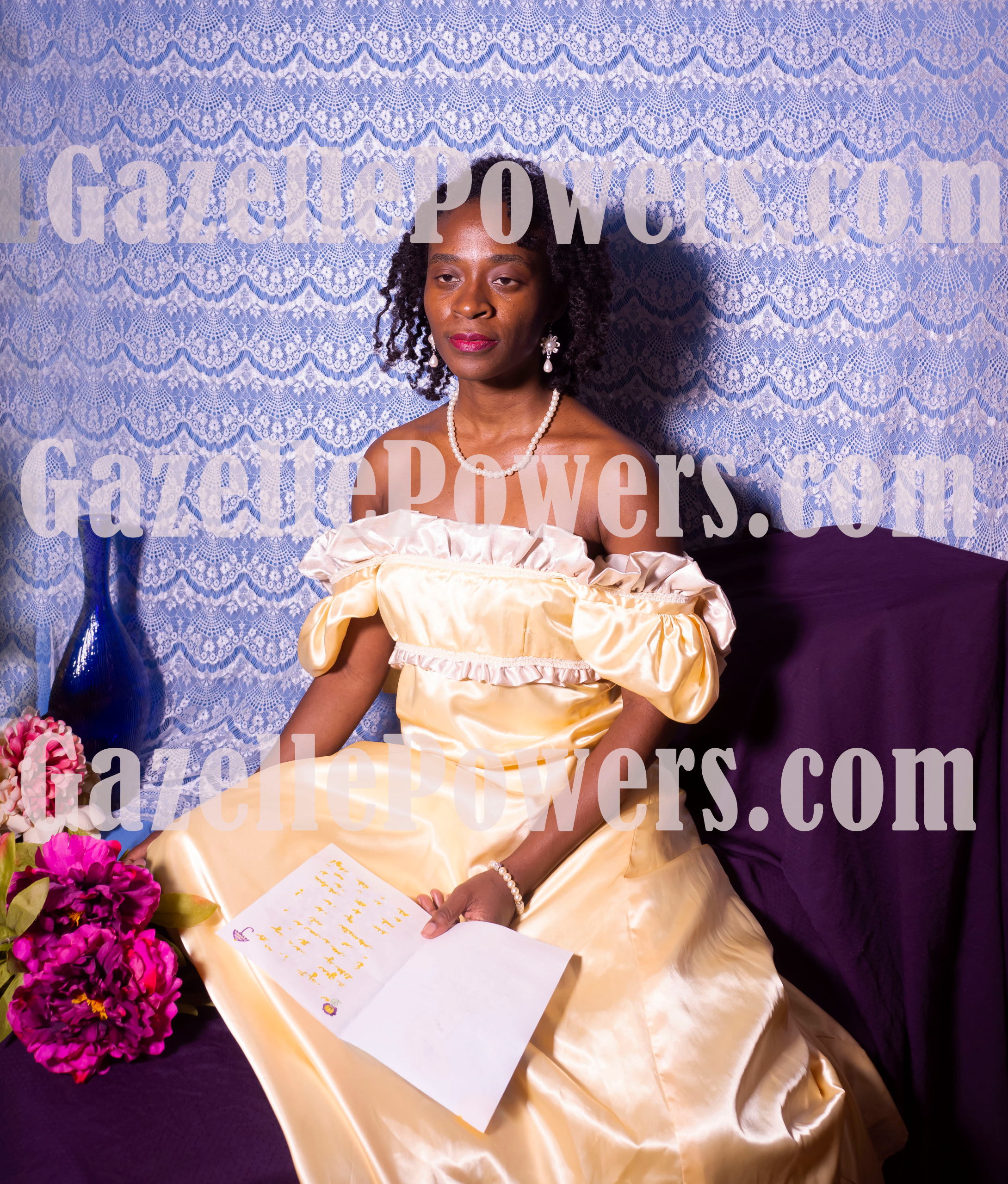 September 6th Session - Jon Paul Inspired (Yellow Satin Gown) Set of 12 Photos