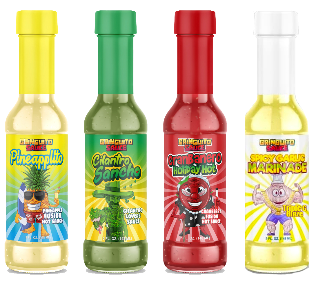 Gringuito Hot Sauce 4 Bottles + Free Shipping