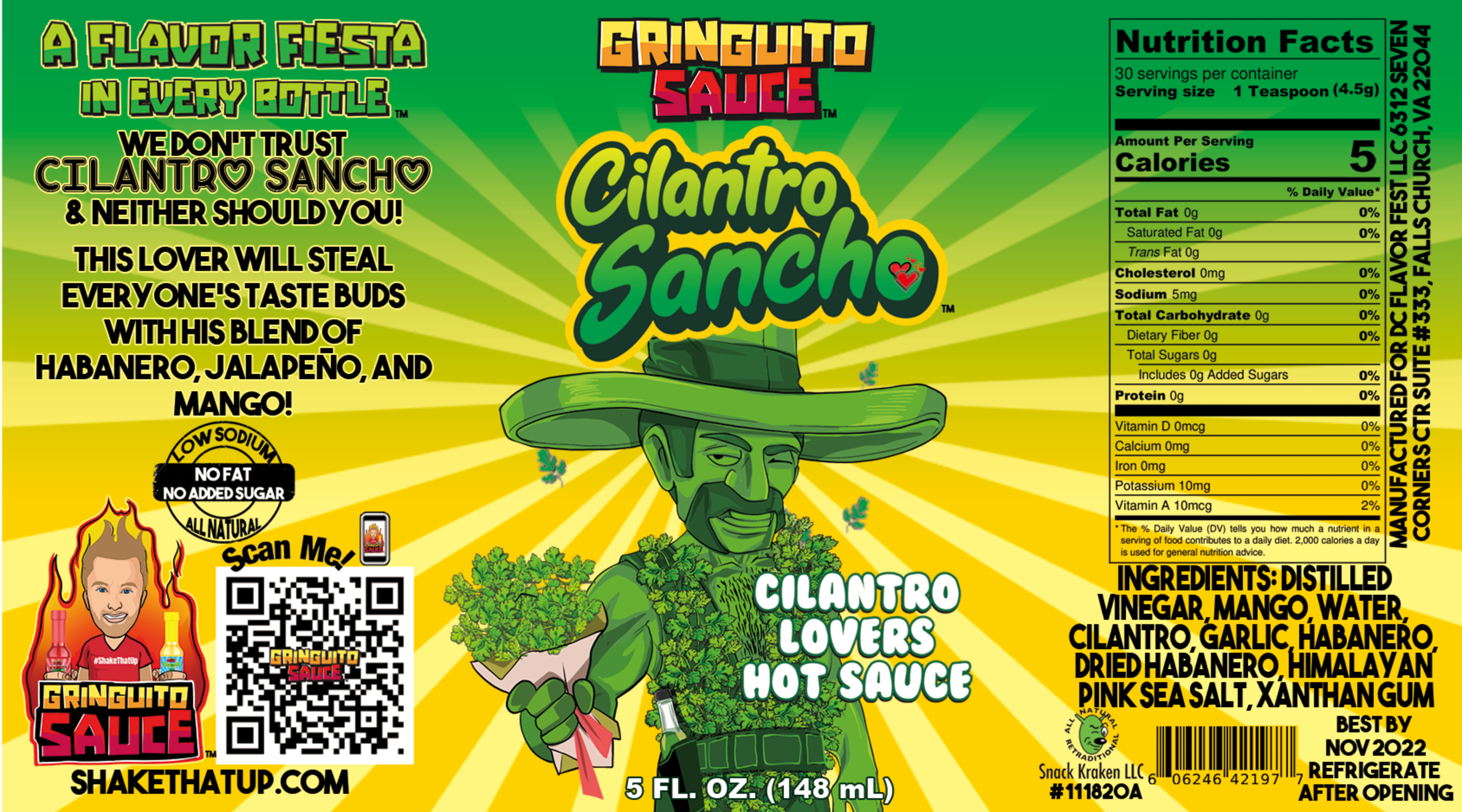 Gringuito Hot Sauce 3 Bottles + 1 Free Special