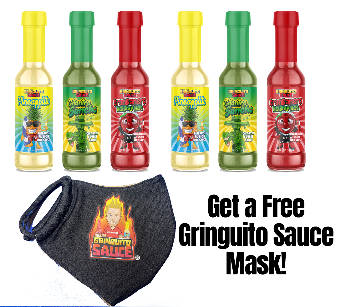 Gringuito Sauce Variety 6 Pack! Free Shipping + Free Gringuito Sauce Mask