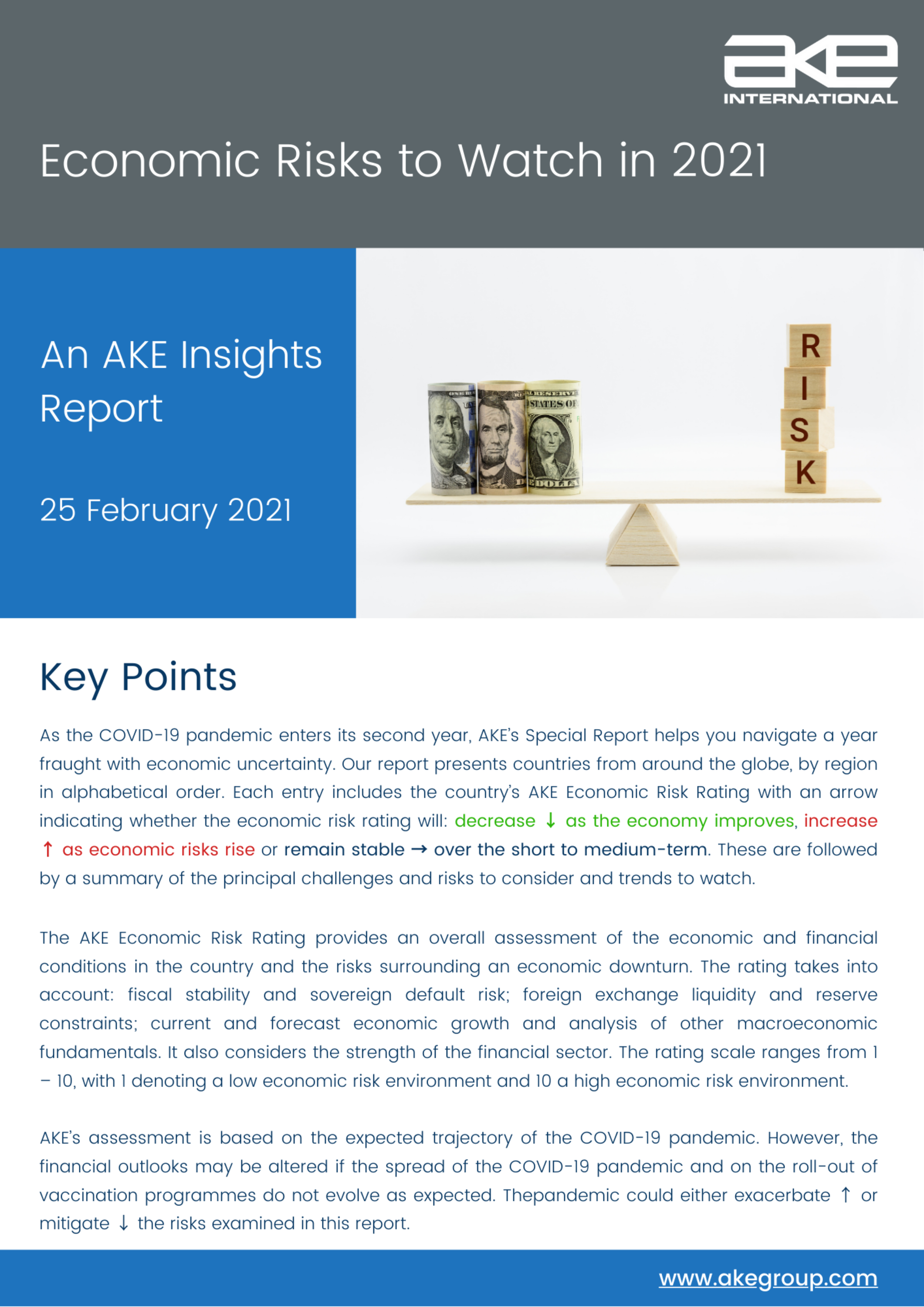 AKE Insights Report: Economic Risks to Watch in 2021