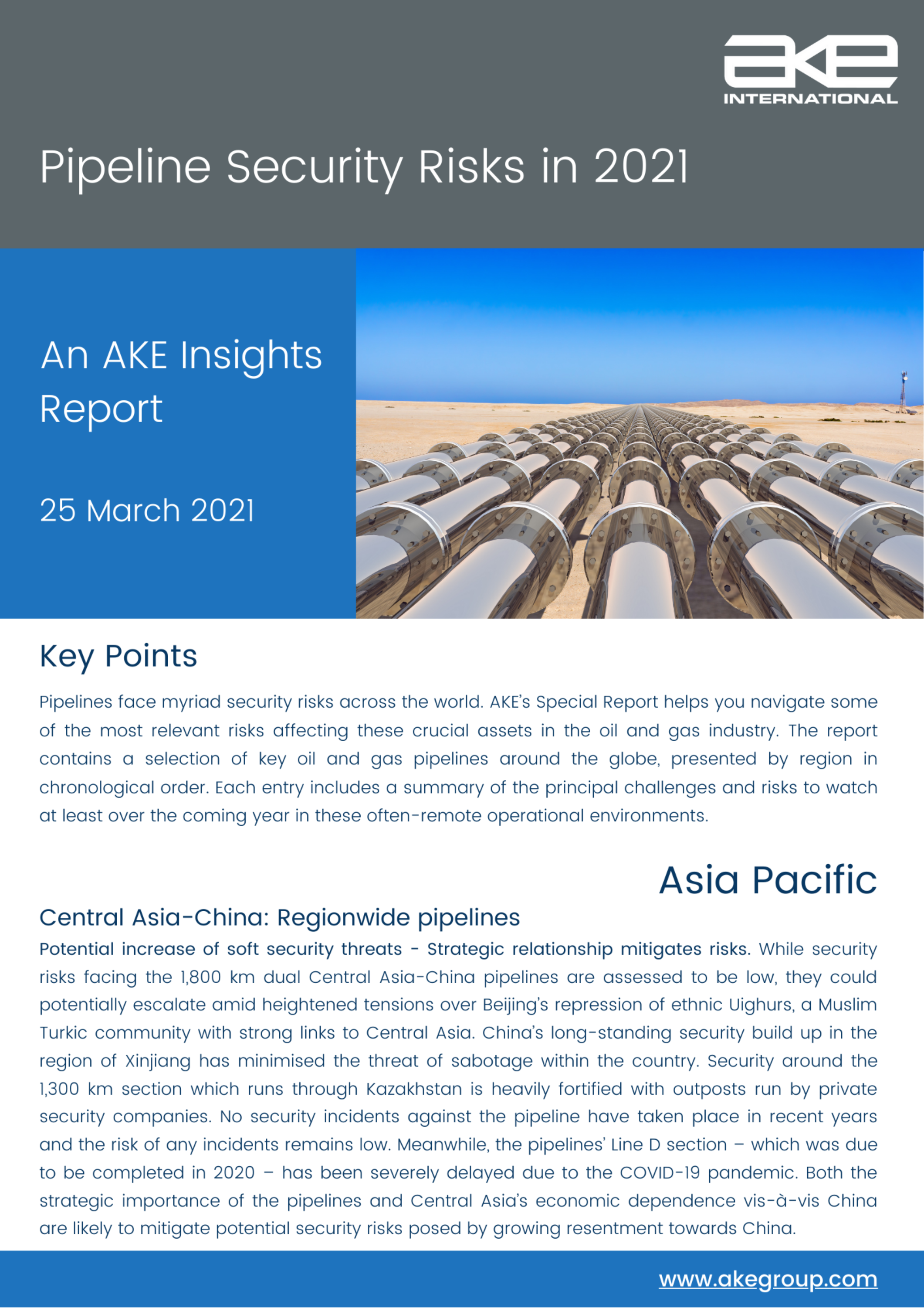 AKE Insights Report: Pipeline Security Risks in 2021