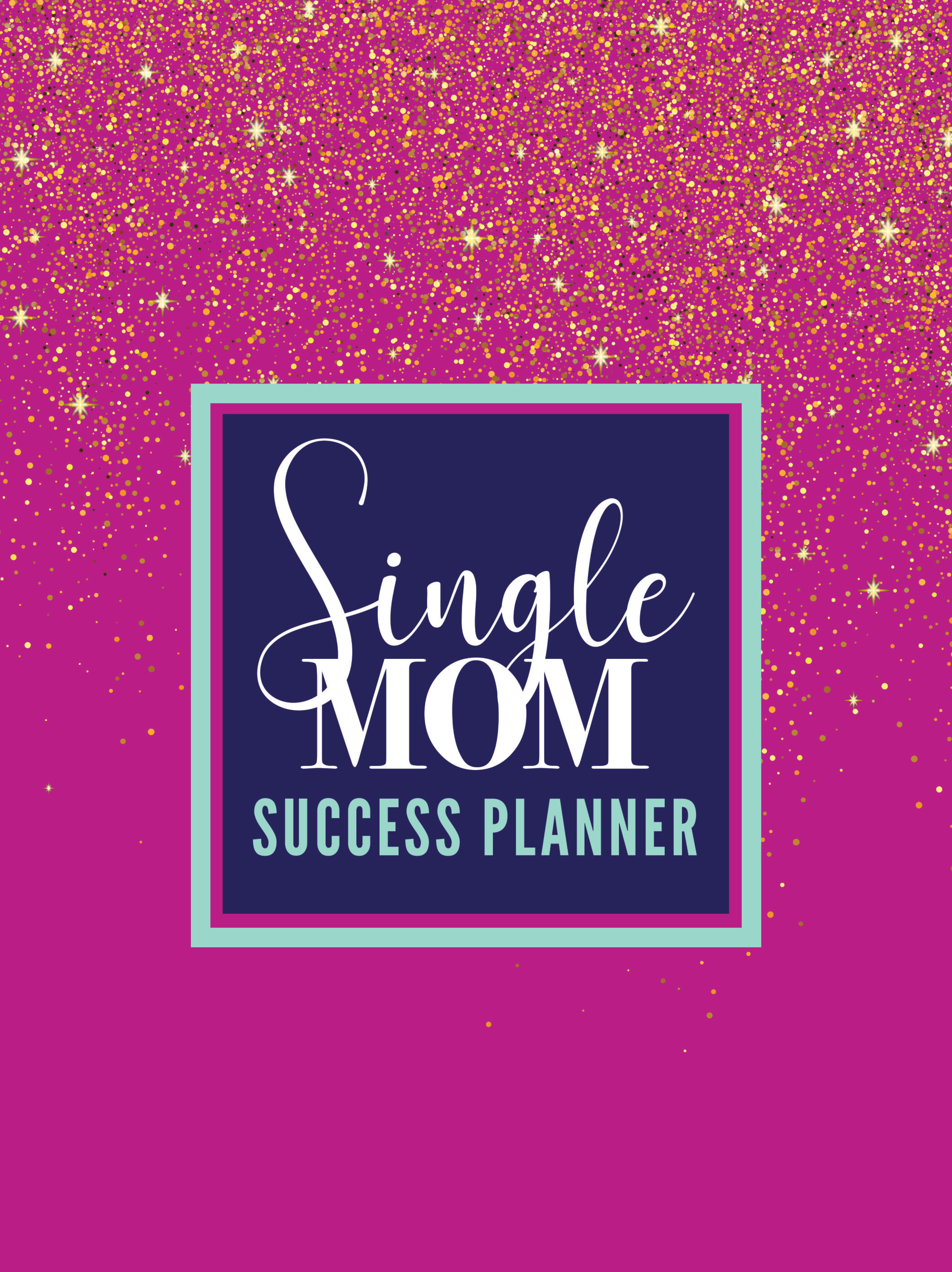 Single Mom Success Planner (black and white) and Book Bundle