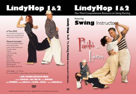 Lindy Hop 1 & 2 DVD & free download included