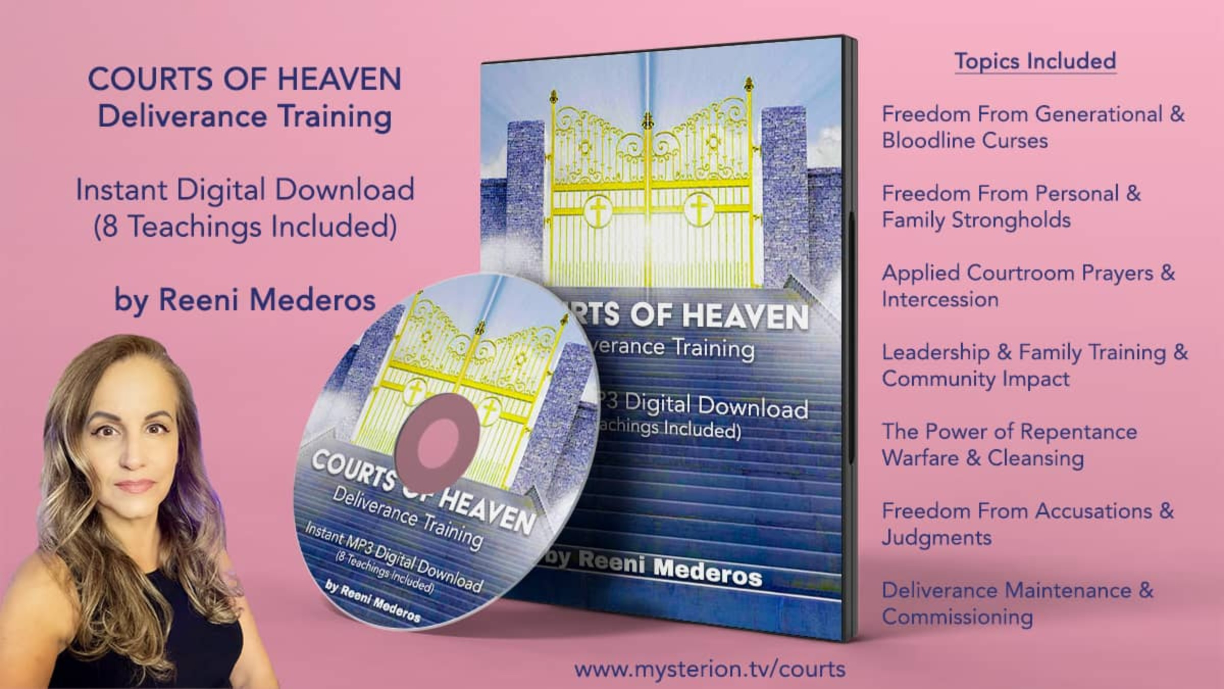 Courts of Heaven Deliverance Training Series - INSTANT DIGITAL DOWNLOAD