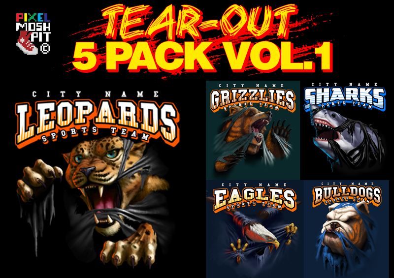 Pixel Moshpit© Tear-Out 5 Pack Vol.1