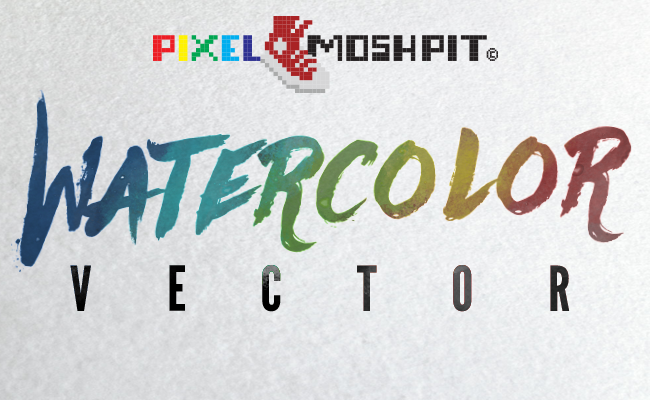 Pixel Moshpit™ Watercolor Vector Template