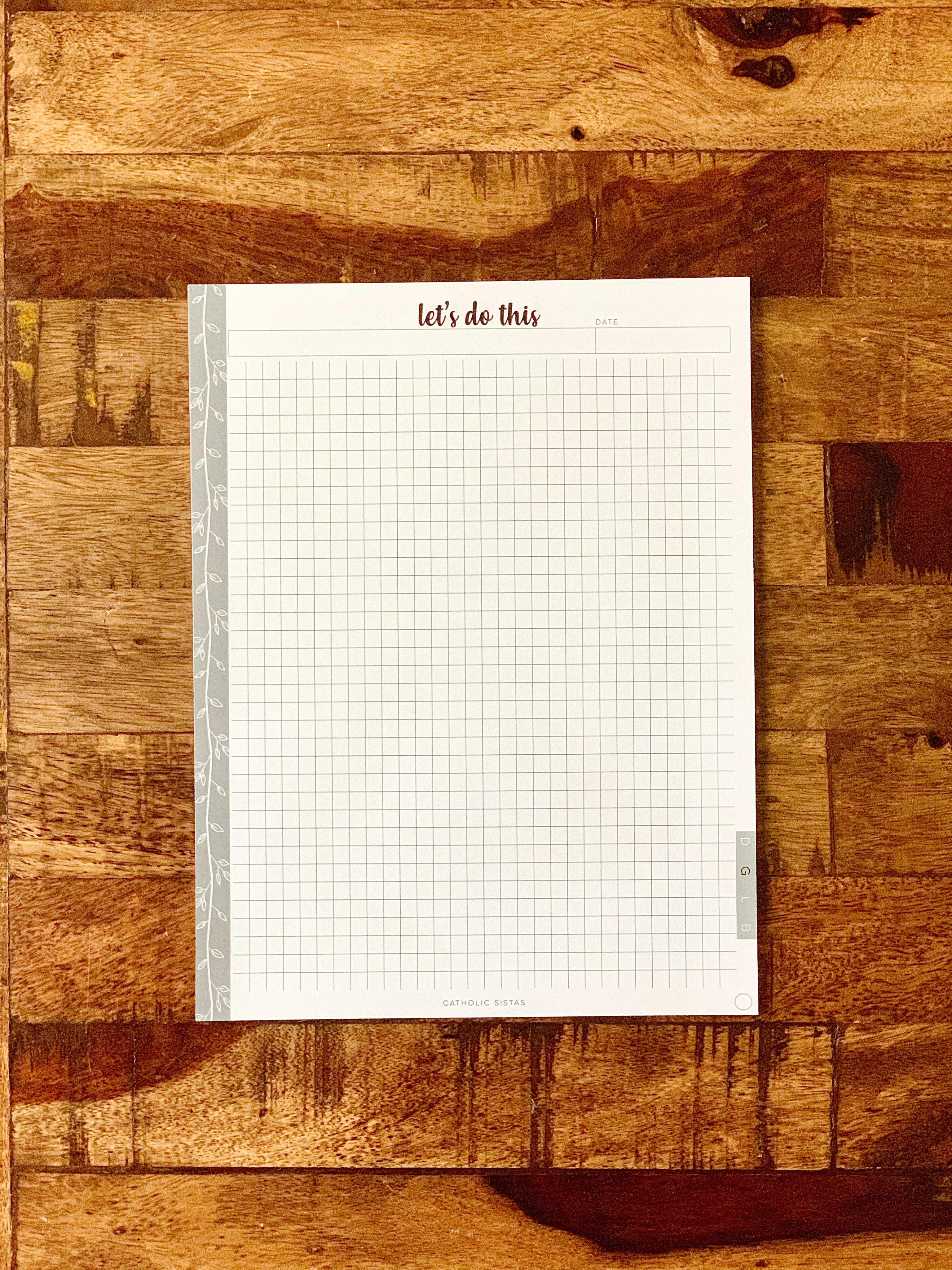 HARD COPY - DAYBOOK || Graph Paper