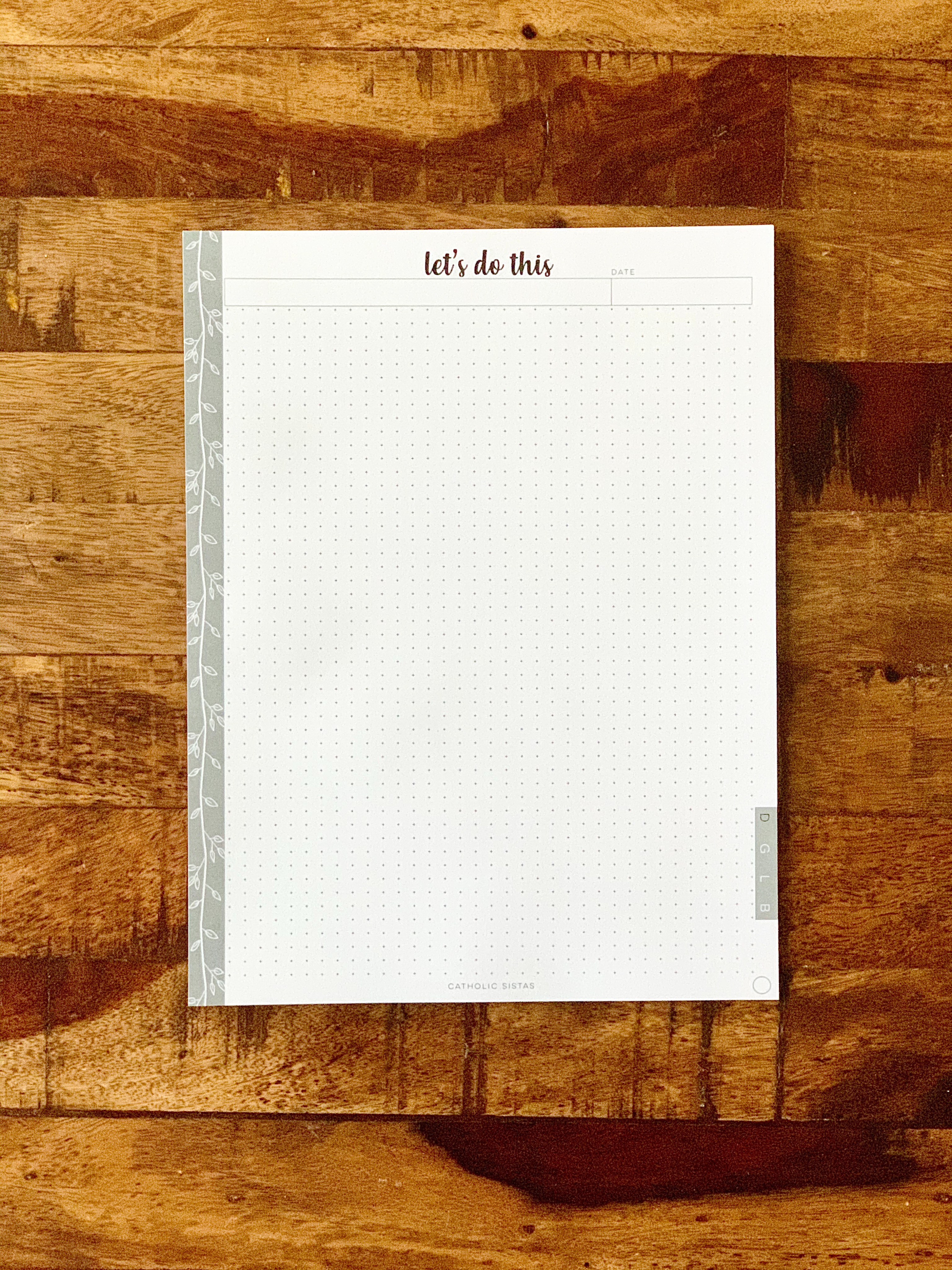 HARD COPY - DAYBOOK || Dotted Paper