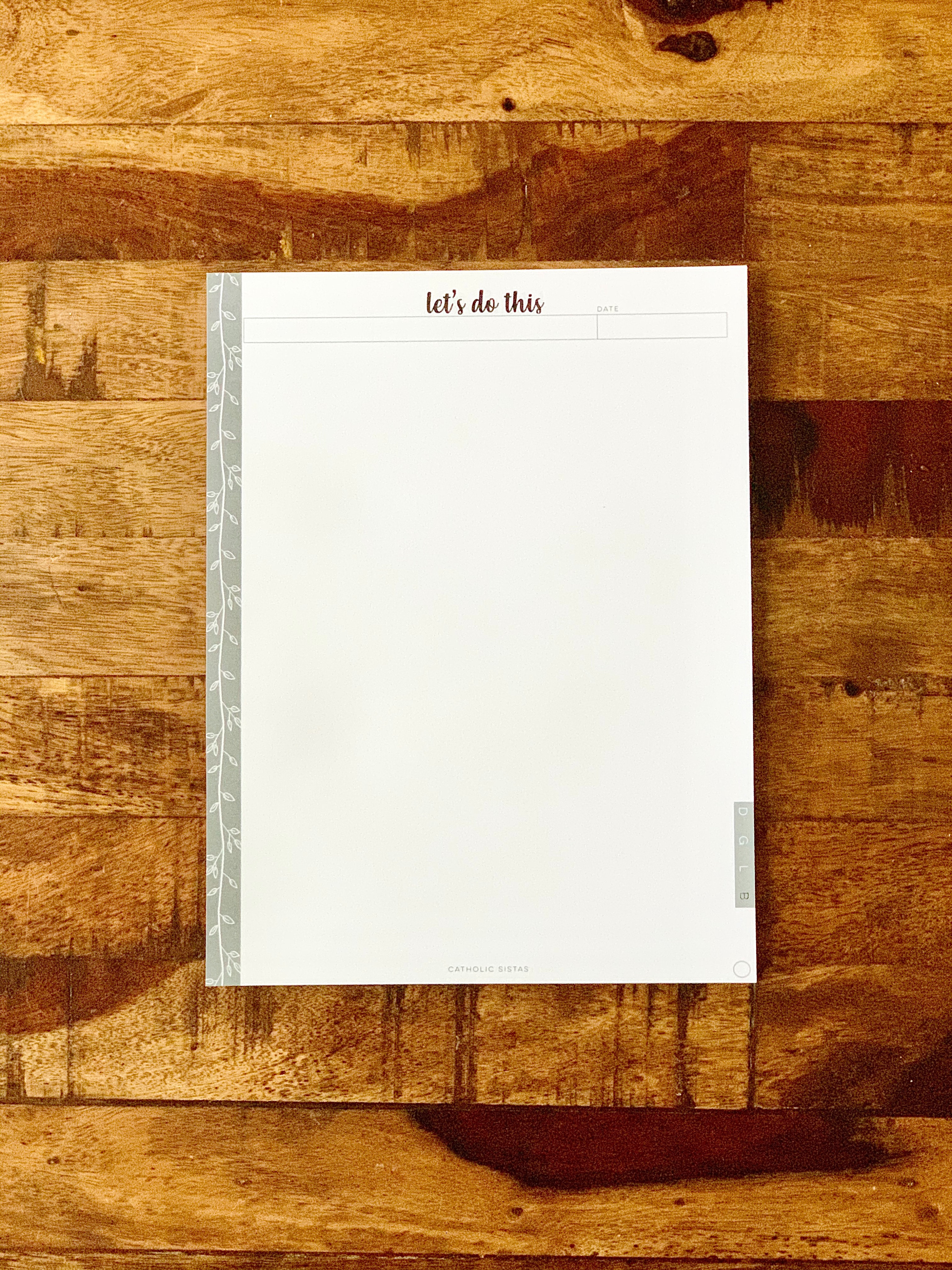 HARD COPY - DAYBOOK || Blank Paper