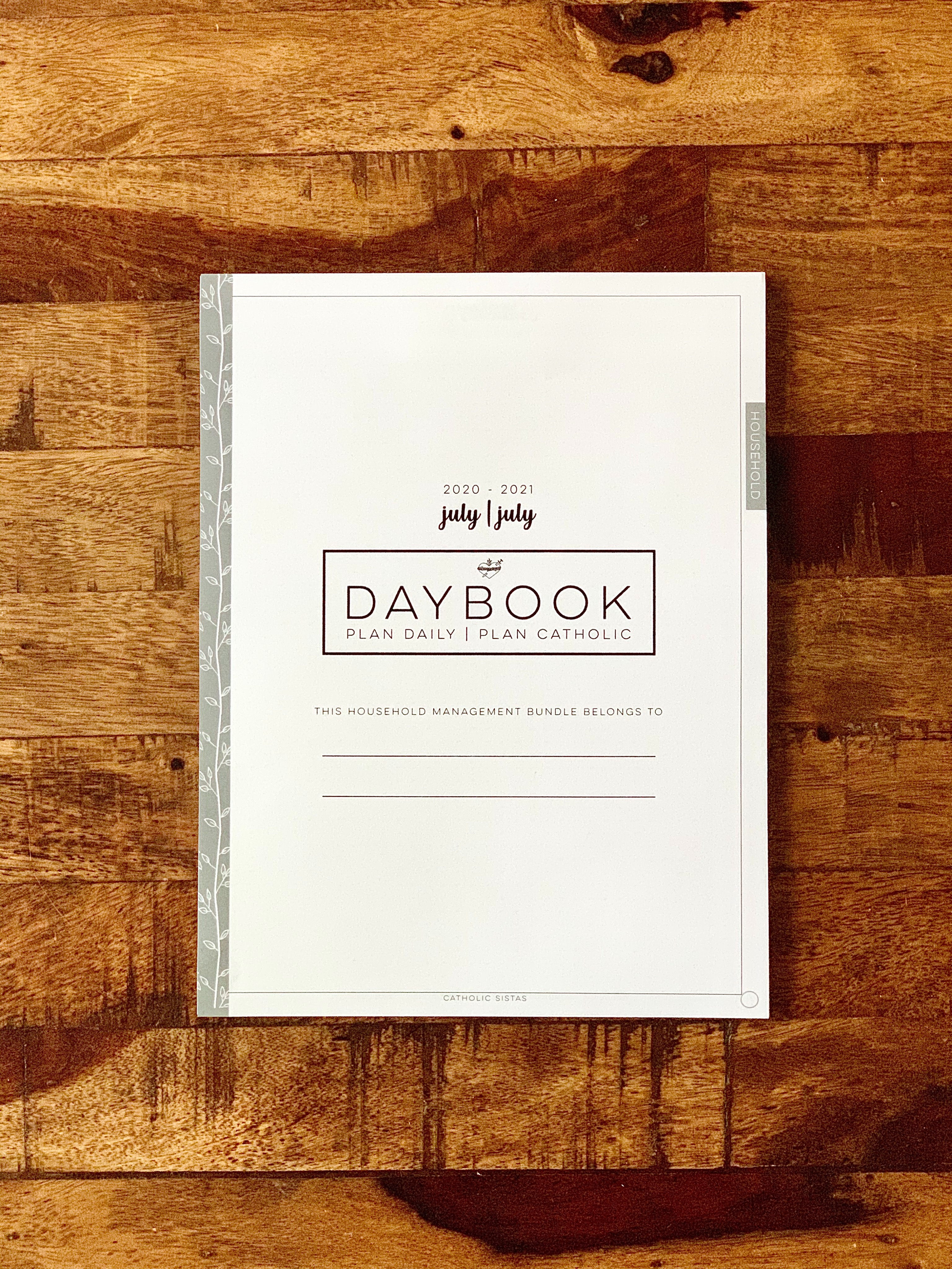 HARD COPY - DAYBOOK || Household Management