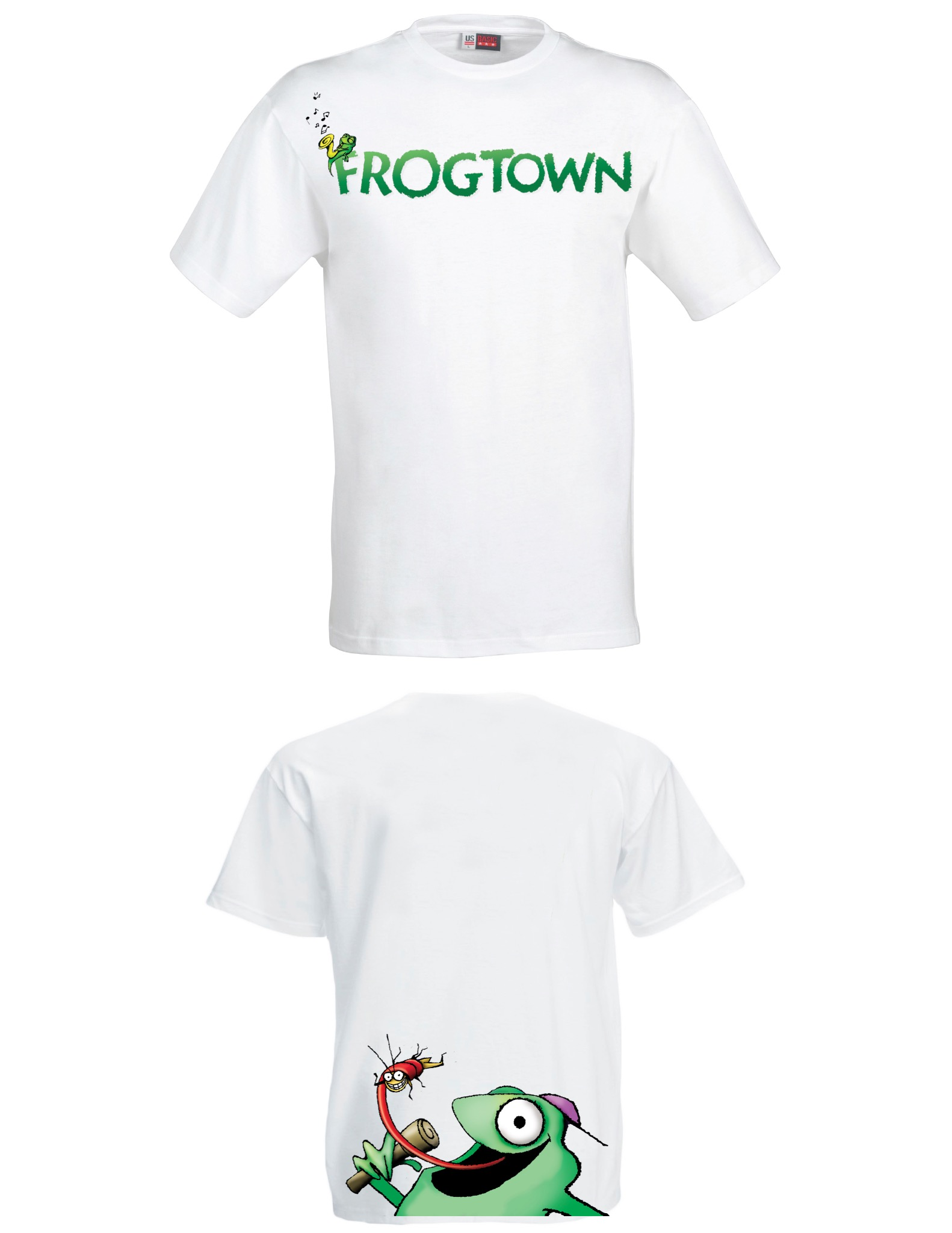 FROGTOWN T-SHIRTS            DOUBLE SIDED DESIGN    100% Cotton