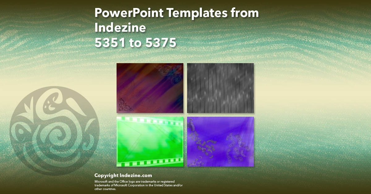 PowerPoint Templates from Indezine 215: Designs 5351 to 5375