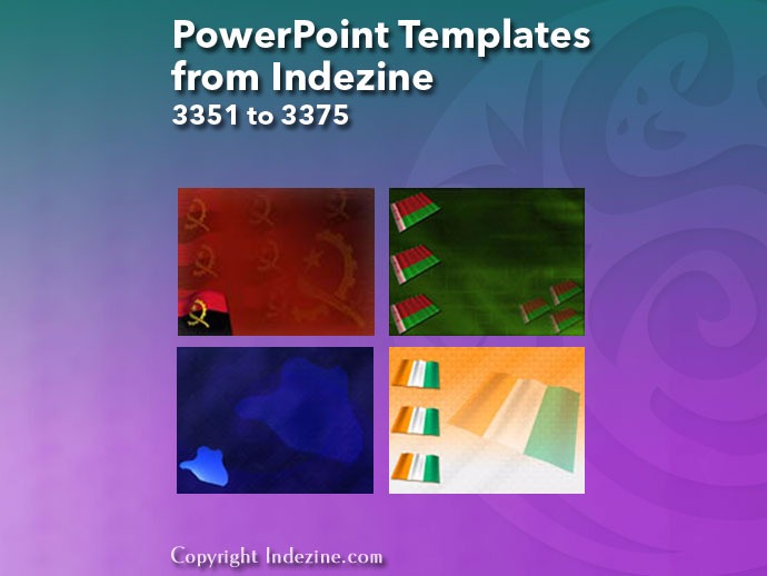 PowerPoint Templates from Indezine 135: Designs 3351 to 3375