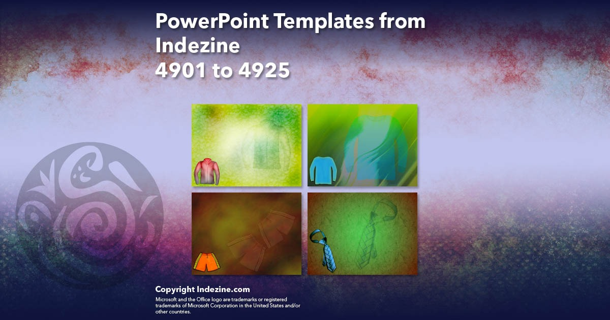 PowerPoint Templates from Indezine 197: Designs 4901 to 4925