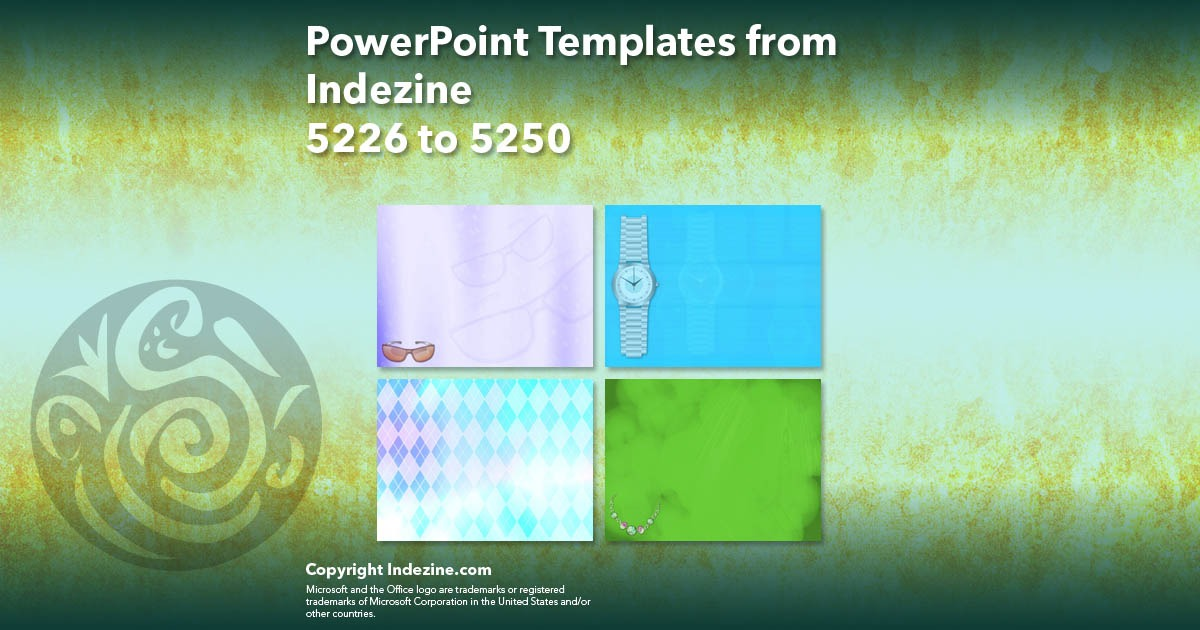 PowerPoint Templates from Indezine 210: Designs 5226 to 5250