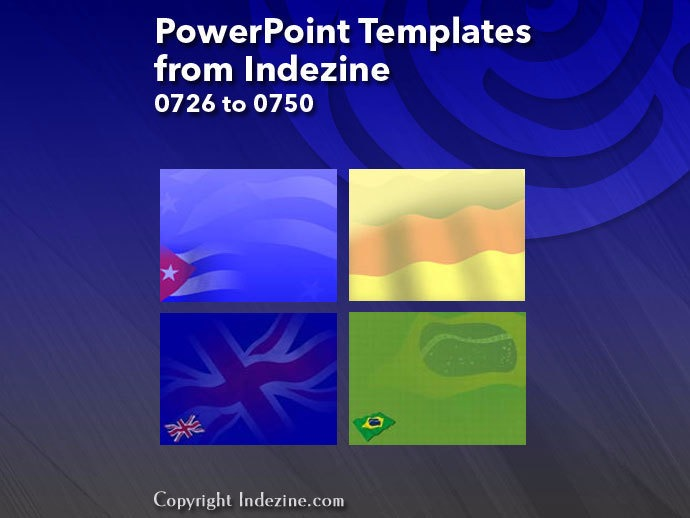PowerPoint Templates from Indezine 030: Designs 0726 to 0750