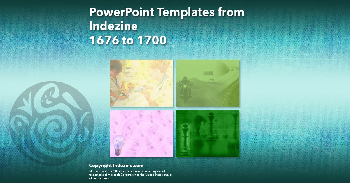PowerPoint Templates from Indezine 068: Designs 1676 to 1700