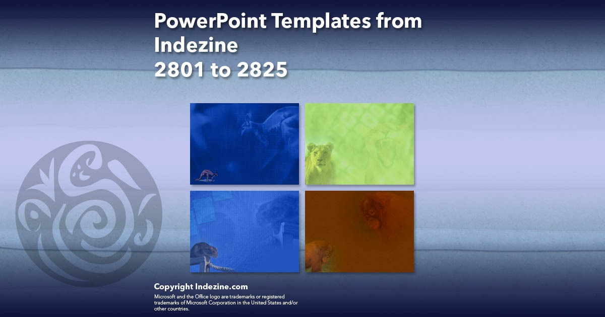 PowerPoint Templates from Indezine 113: Designs 2801 to 2825