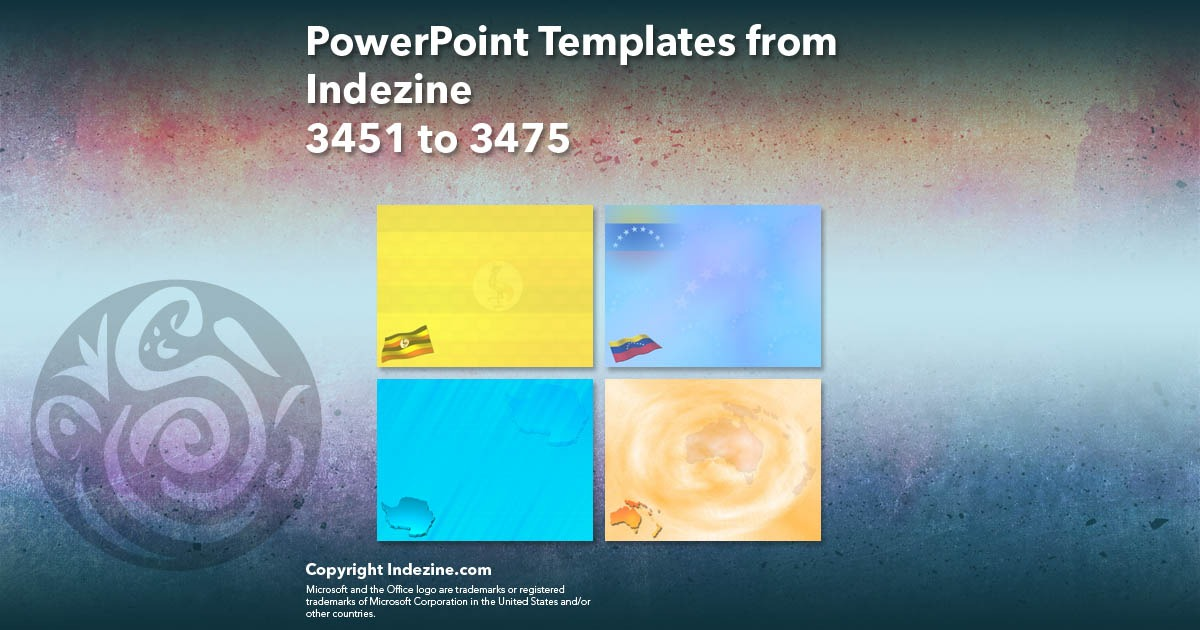 PowerPoint Templates from Indezine 139: Designs 3451 to 3475