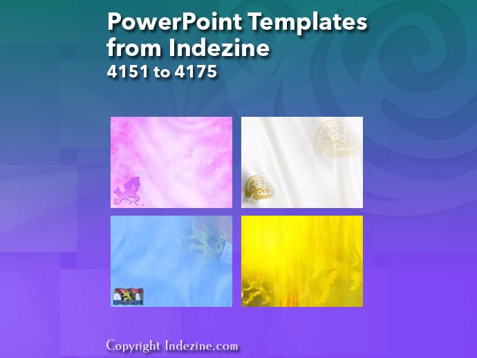 PowerPoint Templates from Indezine 167: Designs 4151 to 4175